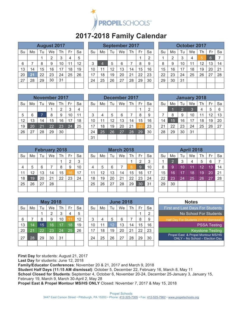 2017 2018 District Calendar Now Available