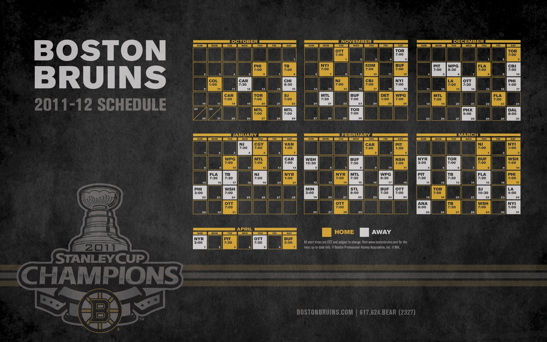 Boston Bruins Images Bruins 2011 12 Schedule Hd Wallpaper And