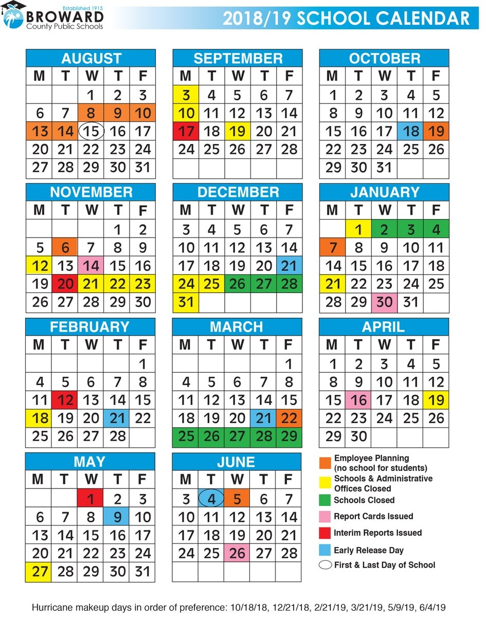 Broward Schools On Twitter The First Day Of School Is August 15