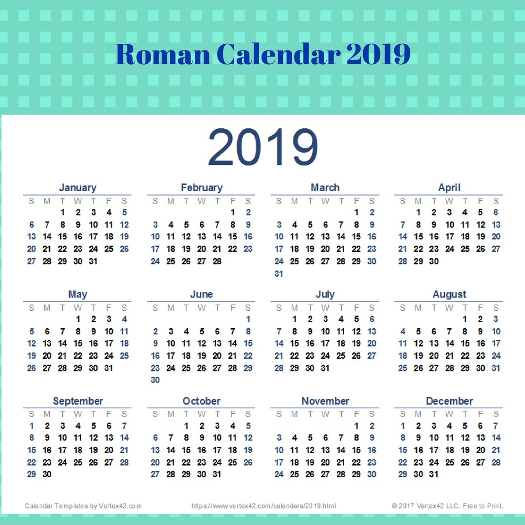 Calendar 2019 Romana Meetgeorge