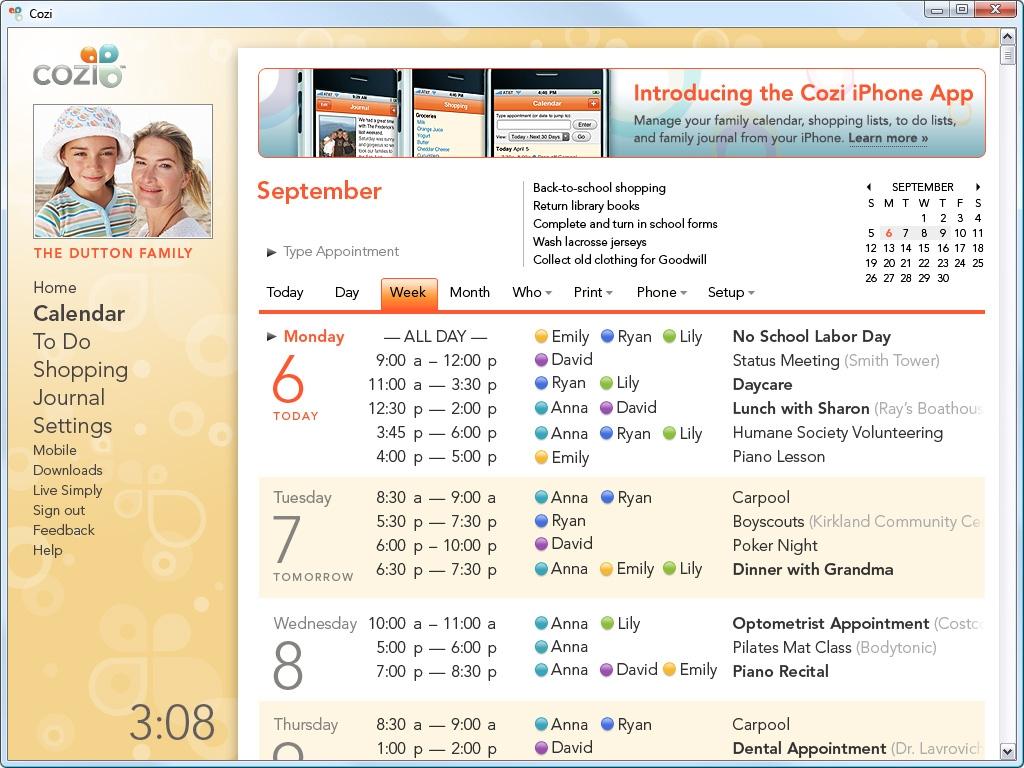 Cozi Family Calendar   Qualads
