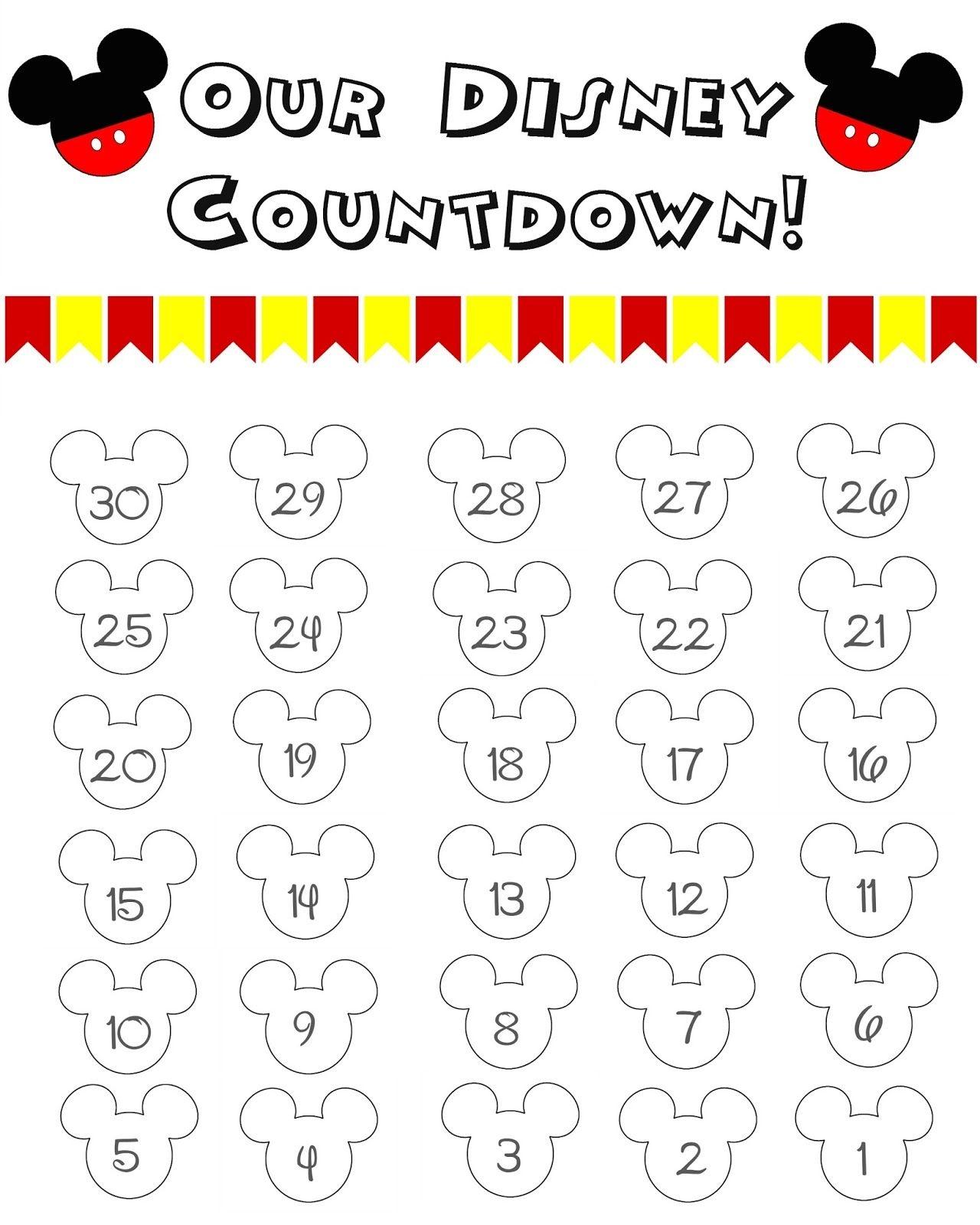 Disney World Countdown Calendar Free Printable The Momma Diaries