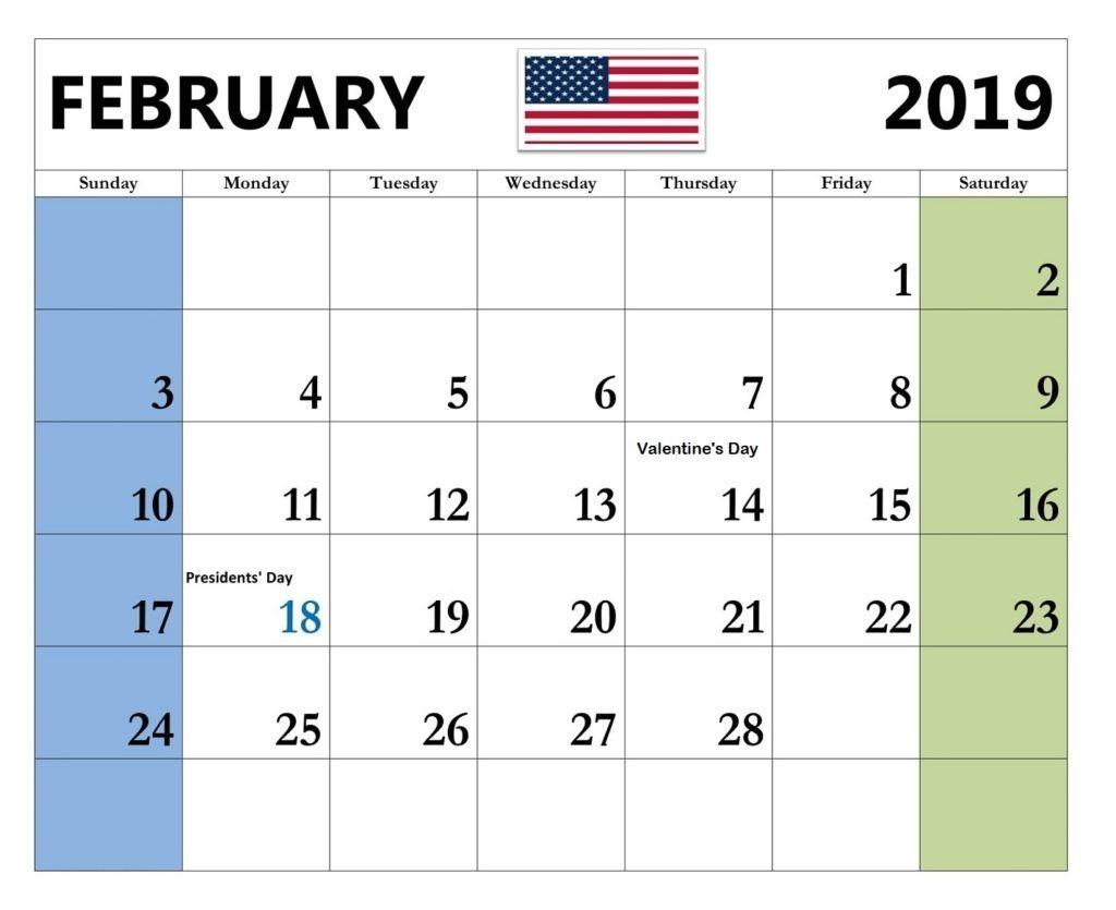 February 2019 United States Holidays Calendar Februarycalendar