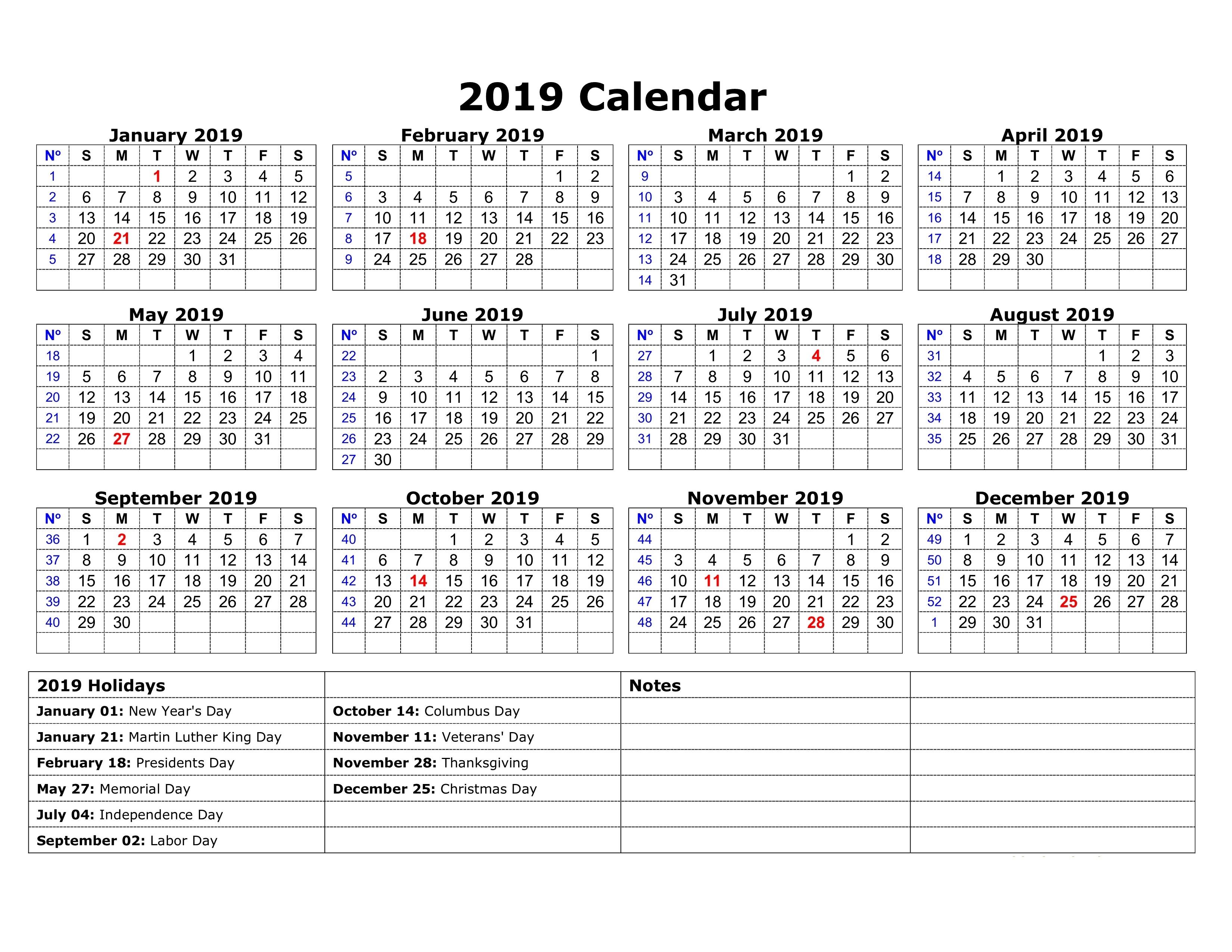 Free Printable Bank Holidays 2019 Calendar South Africa Template