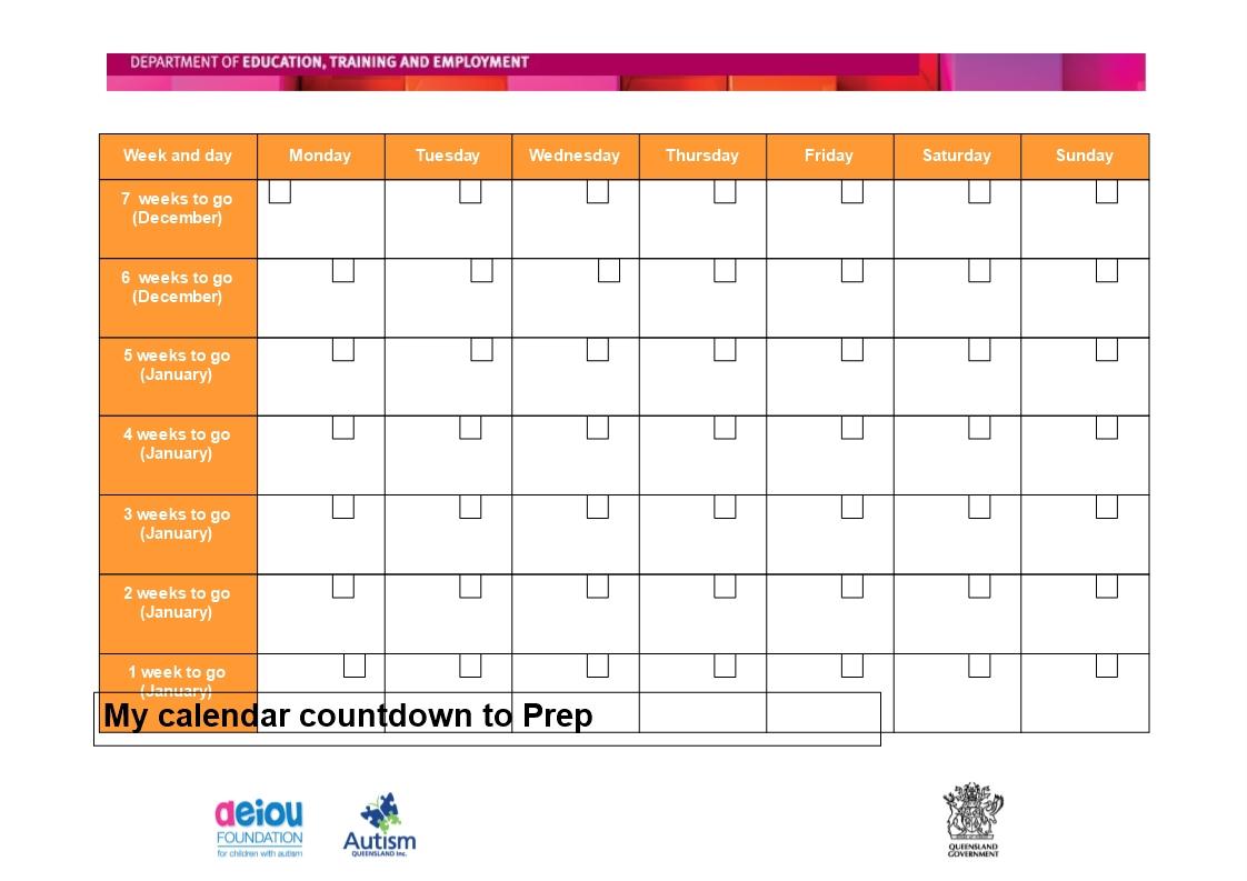 Free Printable Countdown Calendar Templates At