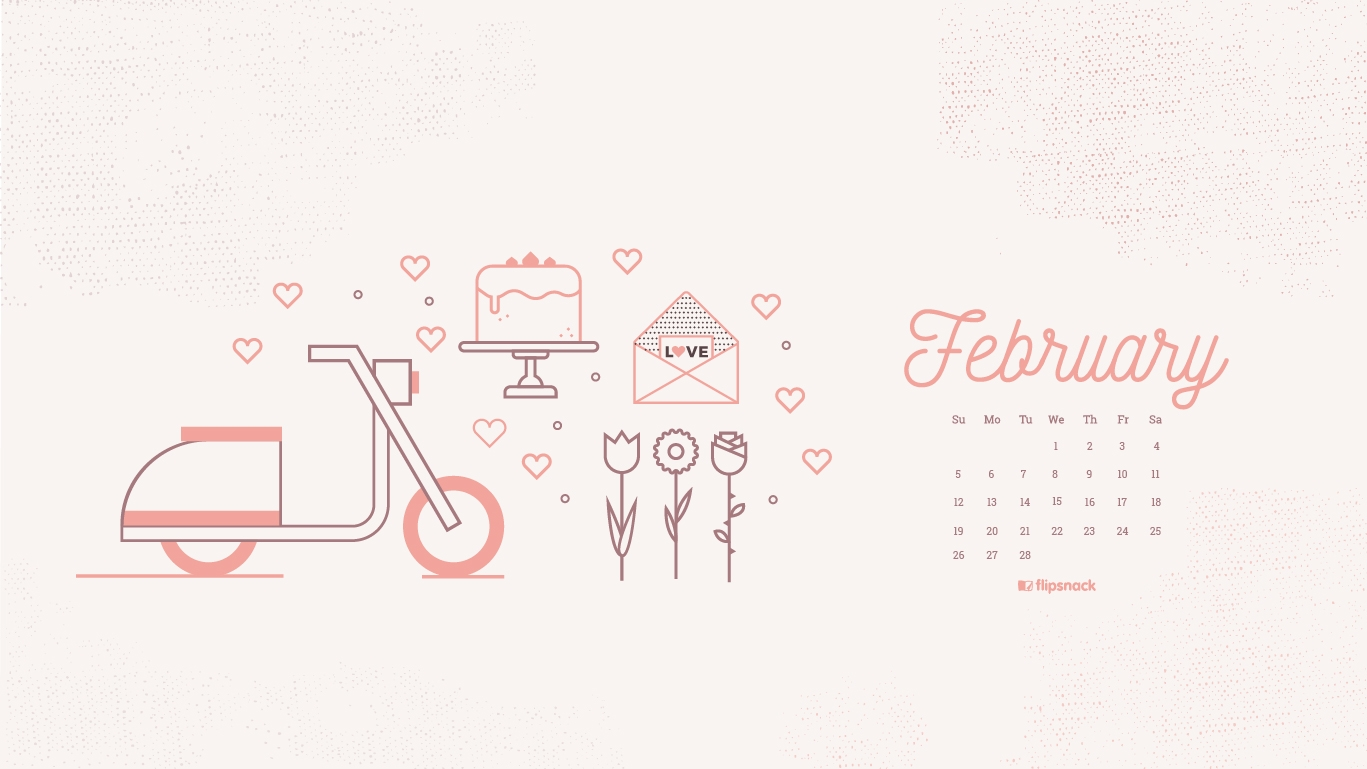 Freebie February 2017 Wallpaper Calendar Desktop Background
