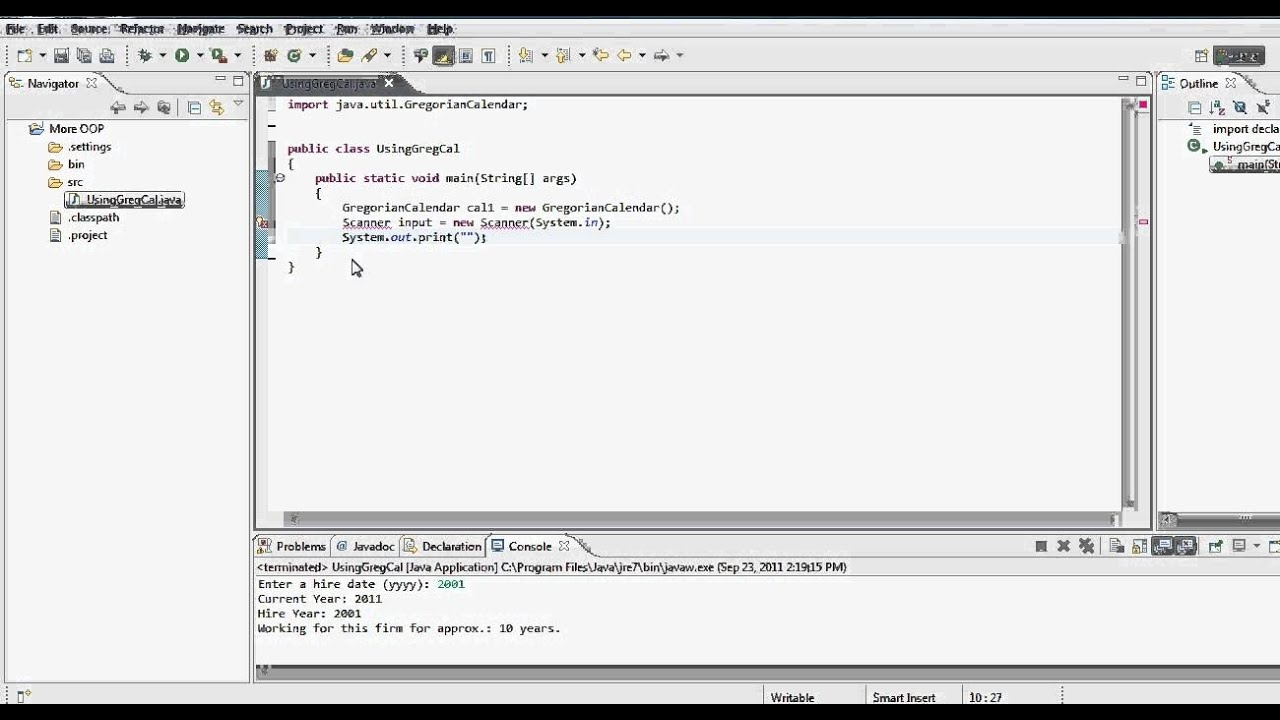 Java Tutorial Using Gregorian Calendar Static Vs Non Static