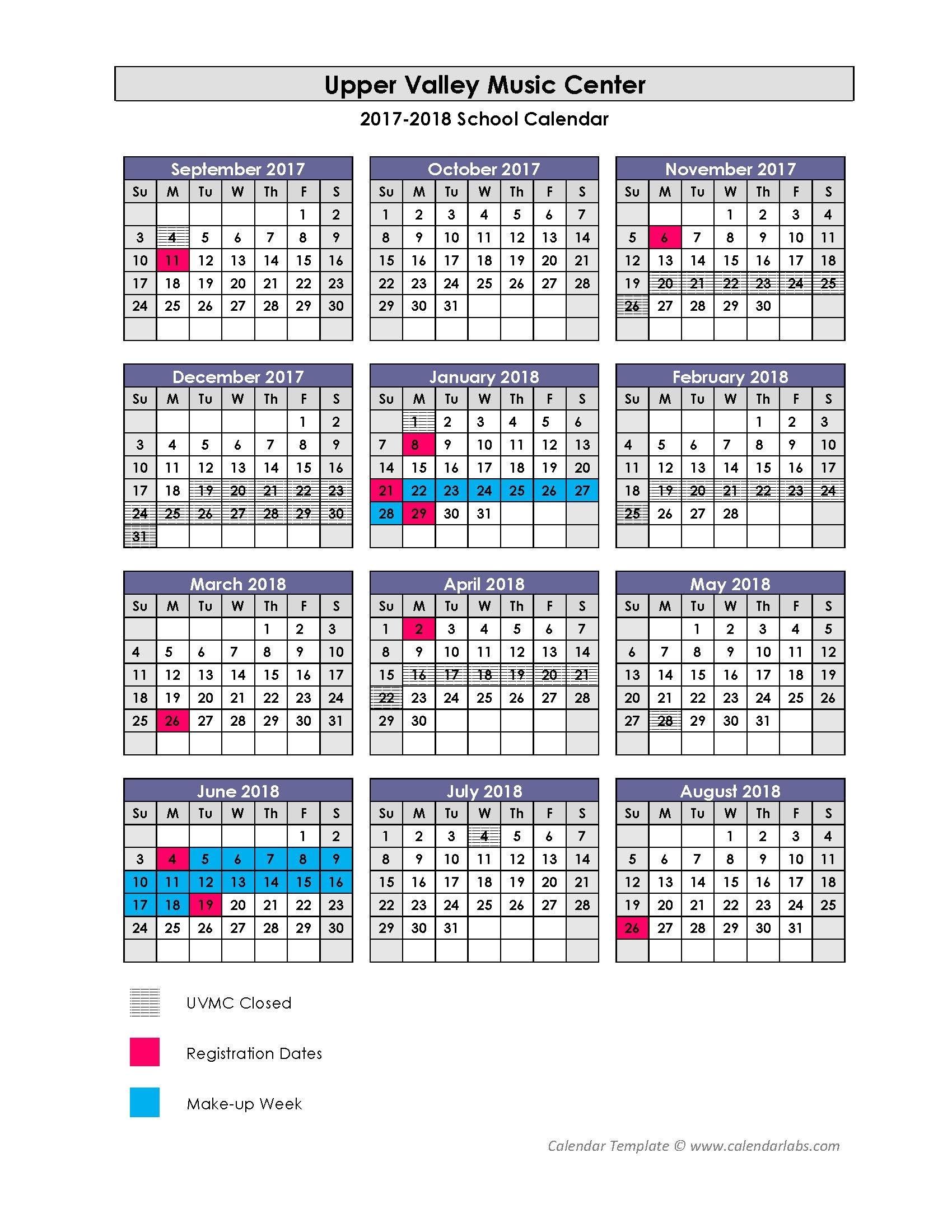 La Weekly Calendar Music Weekly Calendars 2018 Inside Vt Payroll