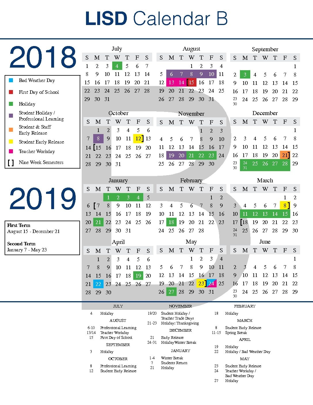 Lisd Approves Early Calendar Discusses Demographics
