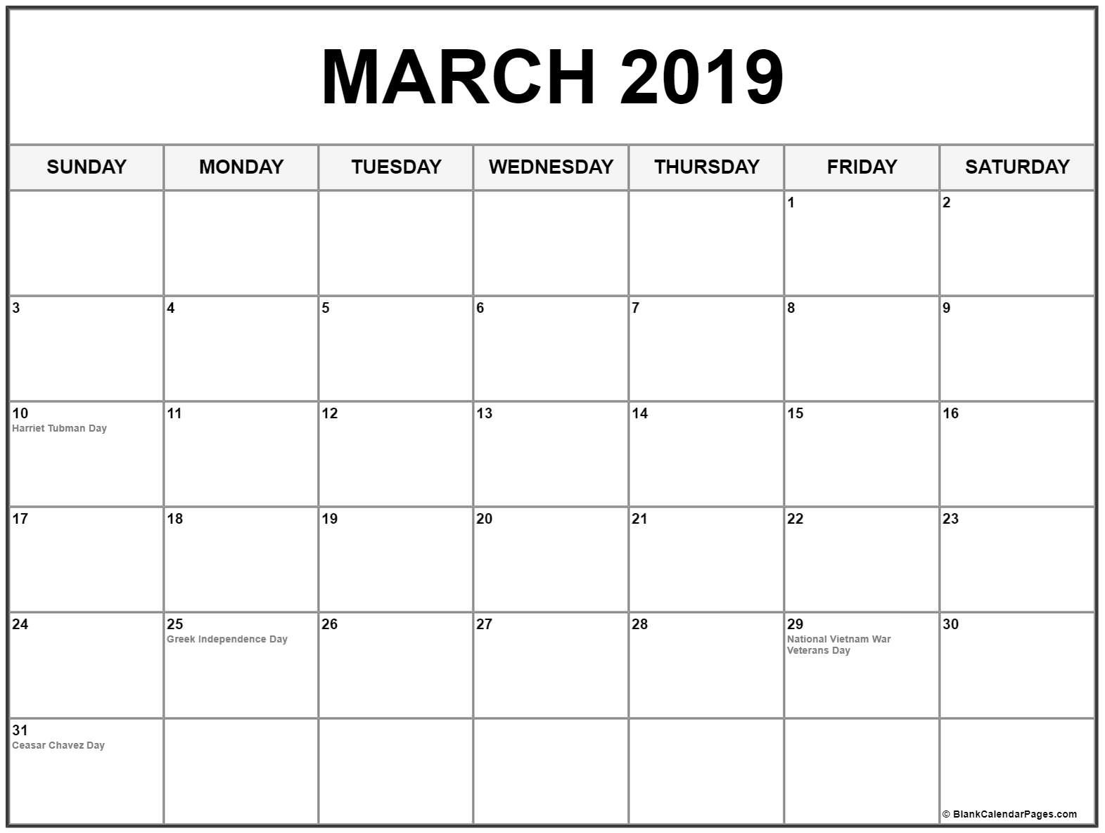 March 2019 Calendar With Usa Holidays 100 March 2019 Calendar