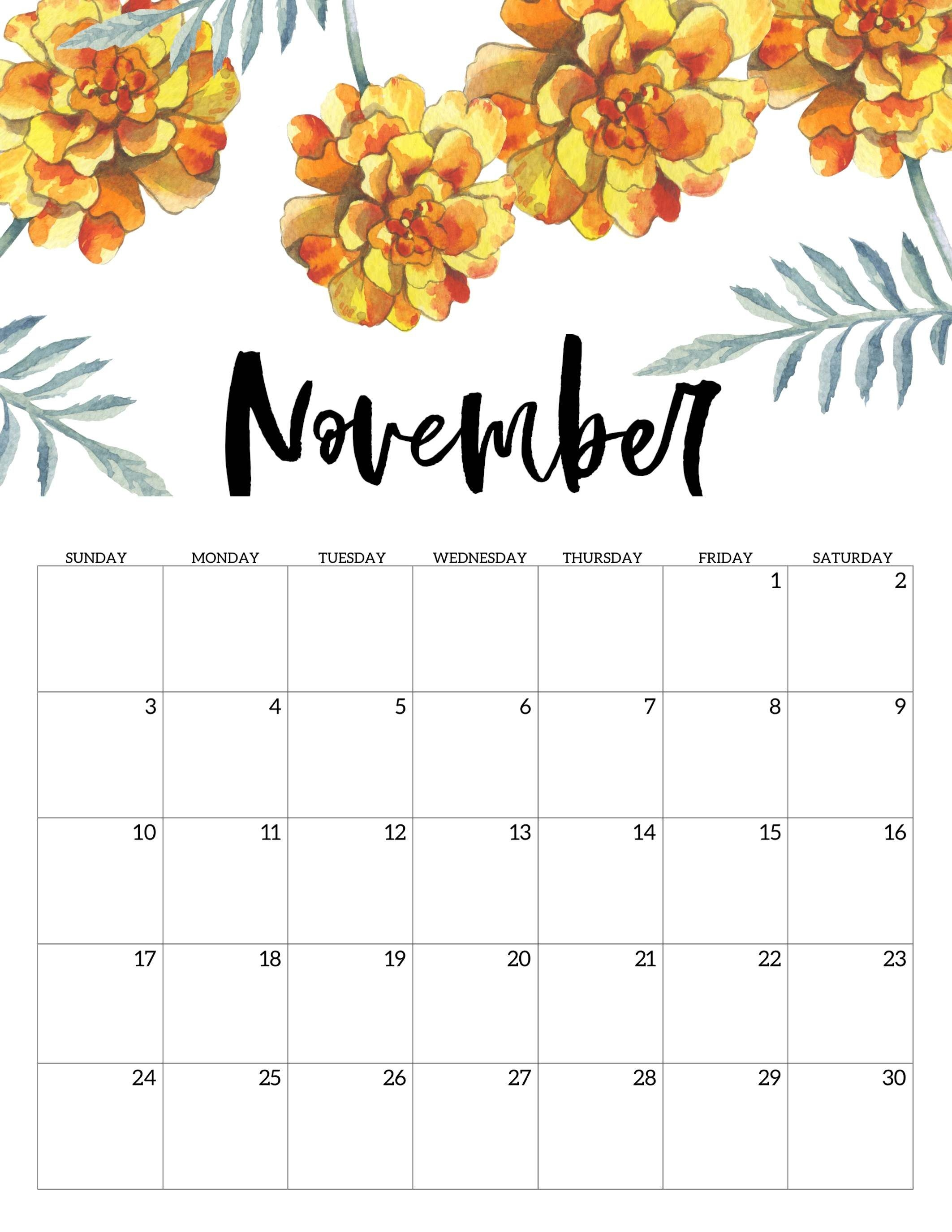 November 2019 Wall Calendar Printable 2019 Calendars Pinterest