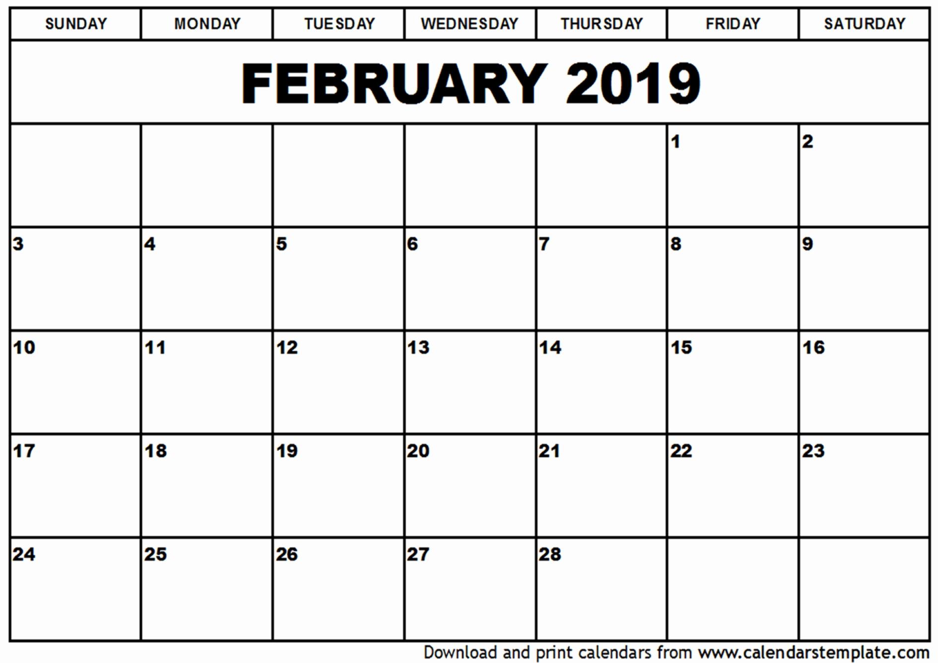 Printable Calendar February 2019 Australia Australia Calendar 2019