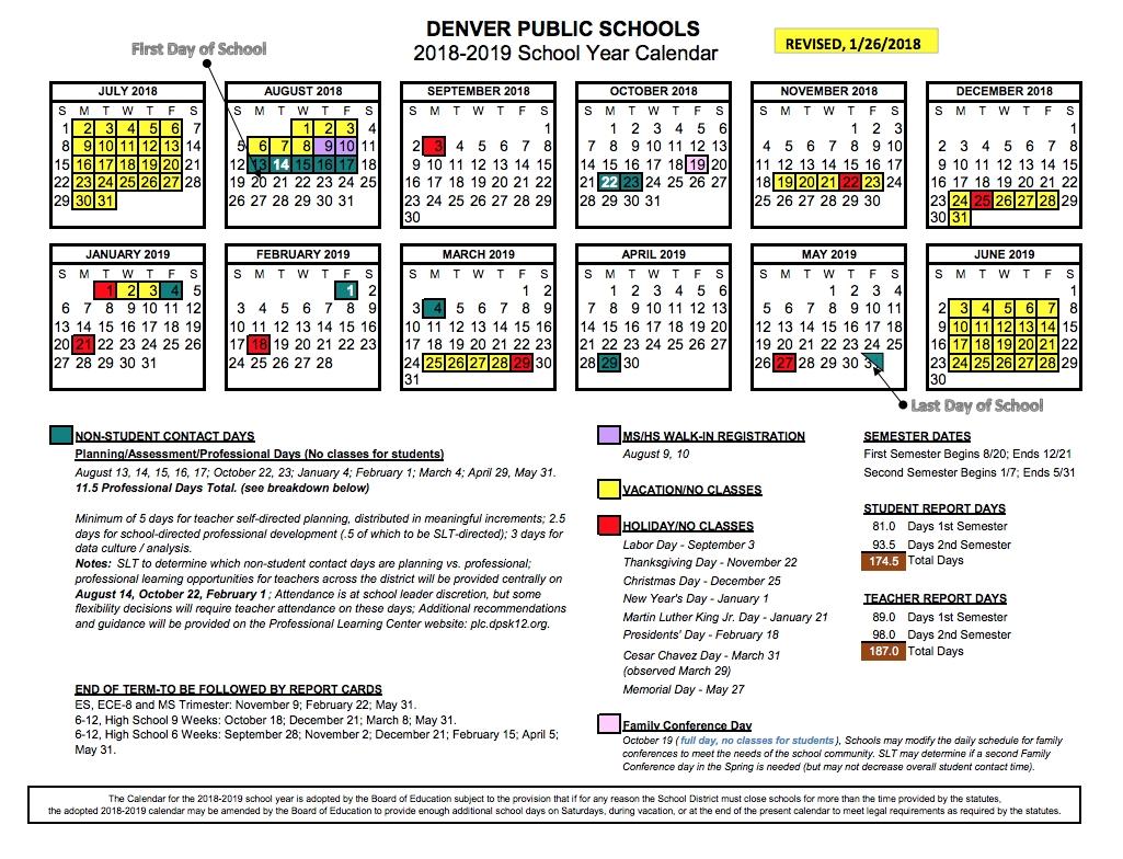 Summer Break Denver Public Schools