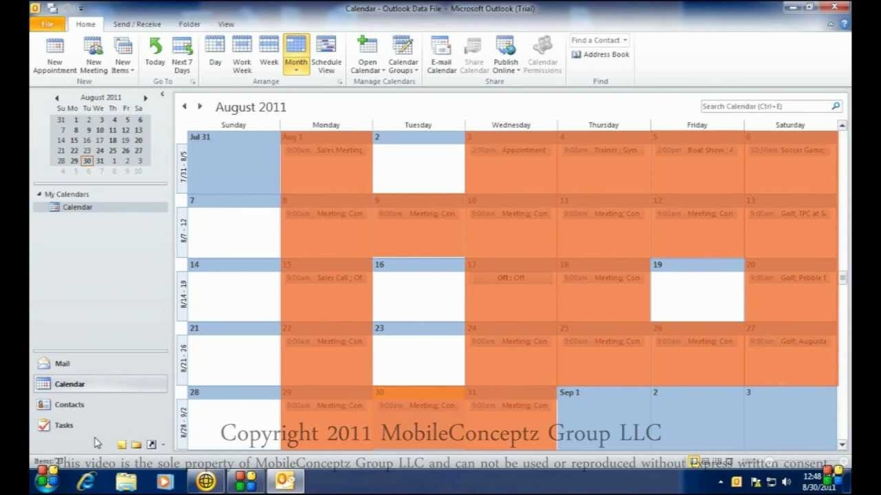 Syncing Microsoft Outlook Calendar With Android Youtube