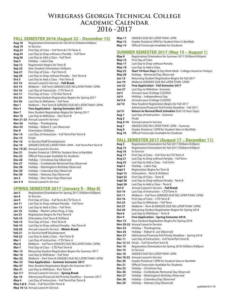 gatech academic calendar