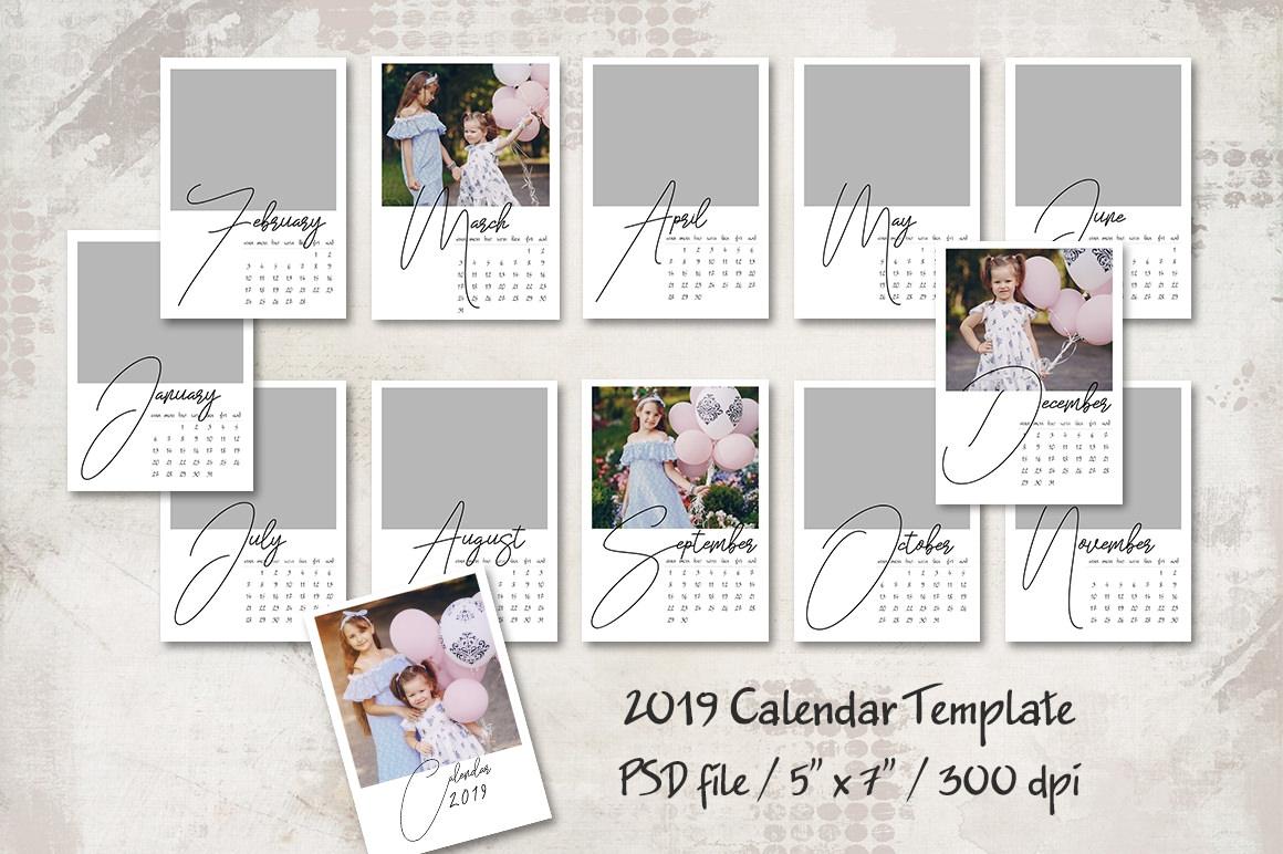 2019 Calendar Template 1 Mrlightroom Premium Lightroom Presets