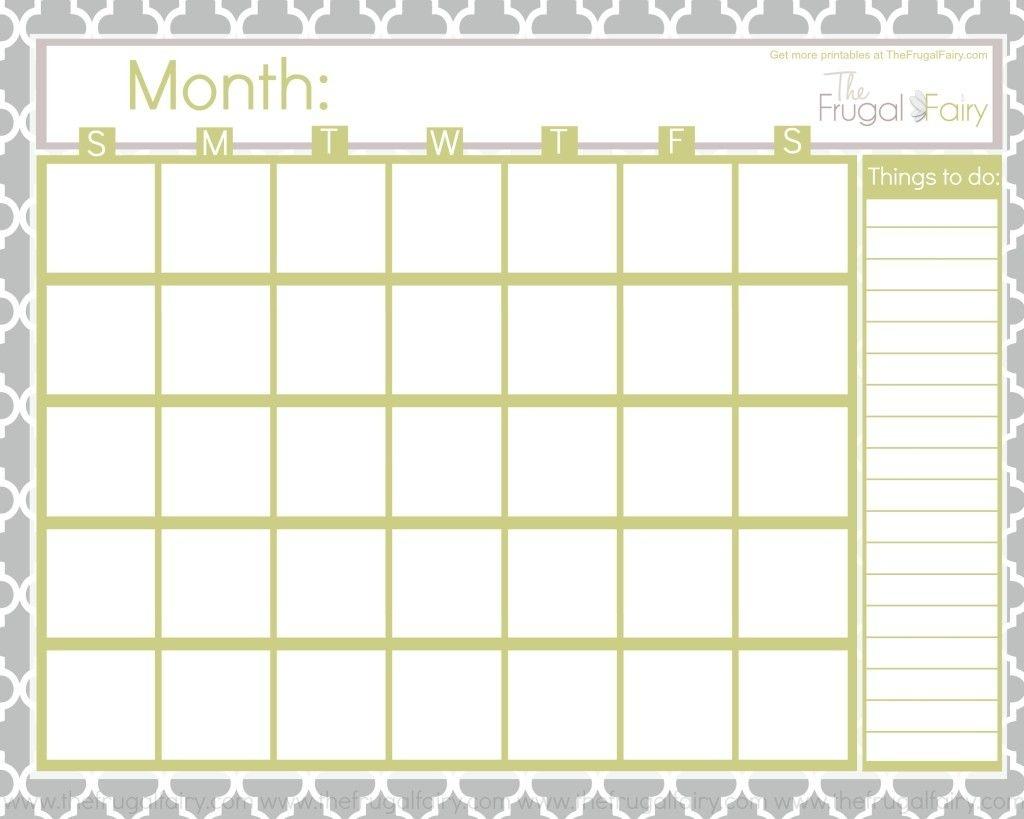 Blank Calendar Tff Fonts Calendar Blank Calendar Printables