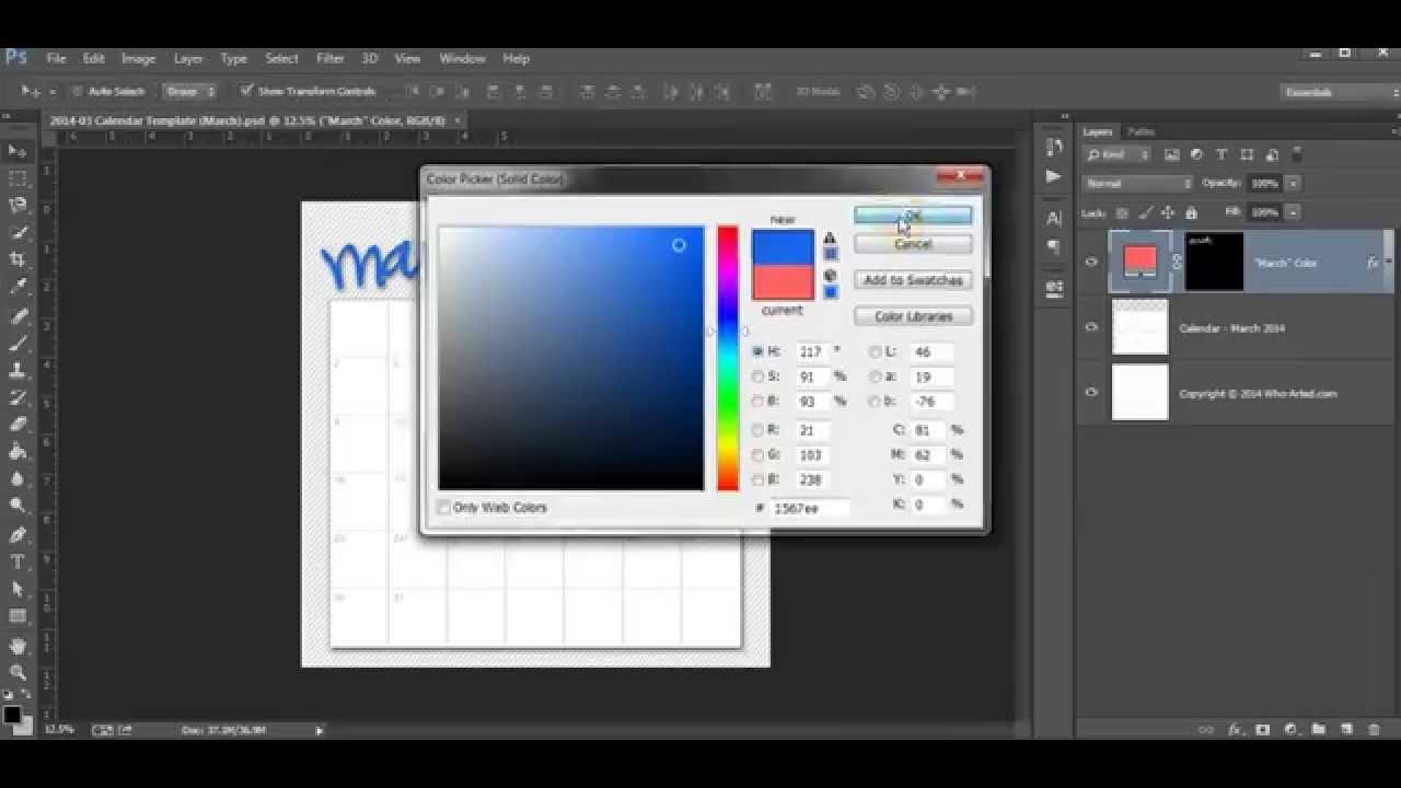 Calendar Template Photoshop Tutorial Youtube