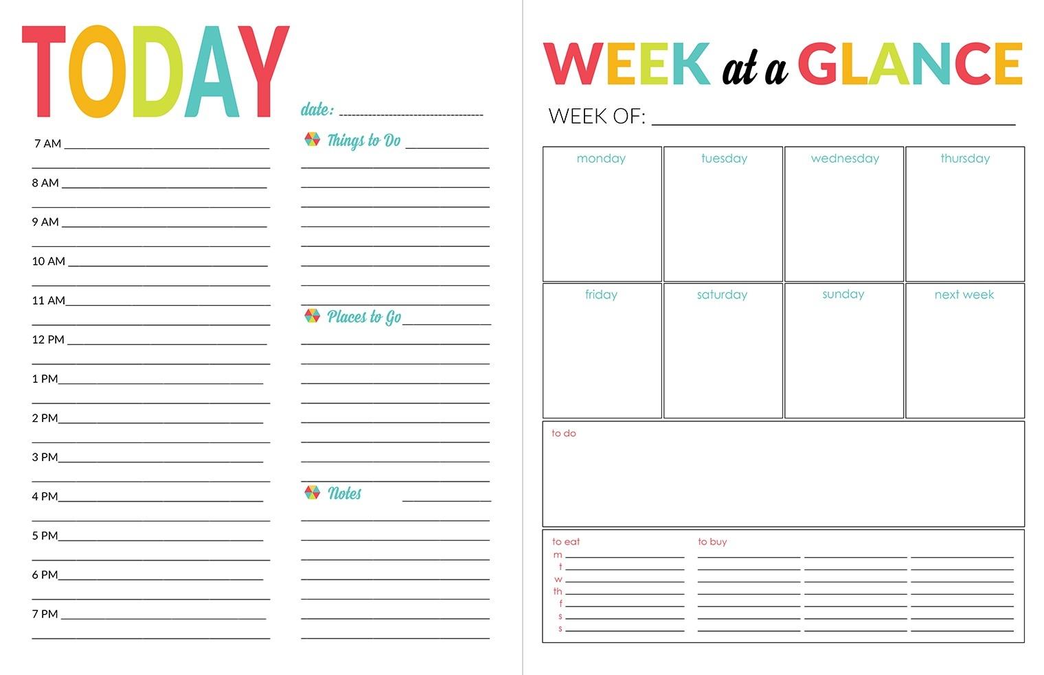 Daily Printable Calendar School Year Organizer Planner Printable