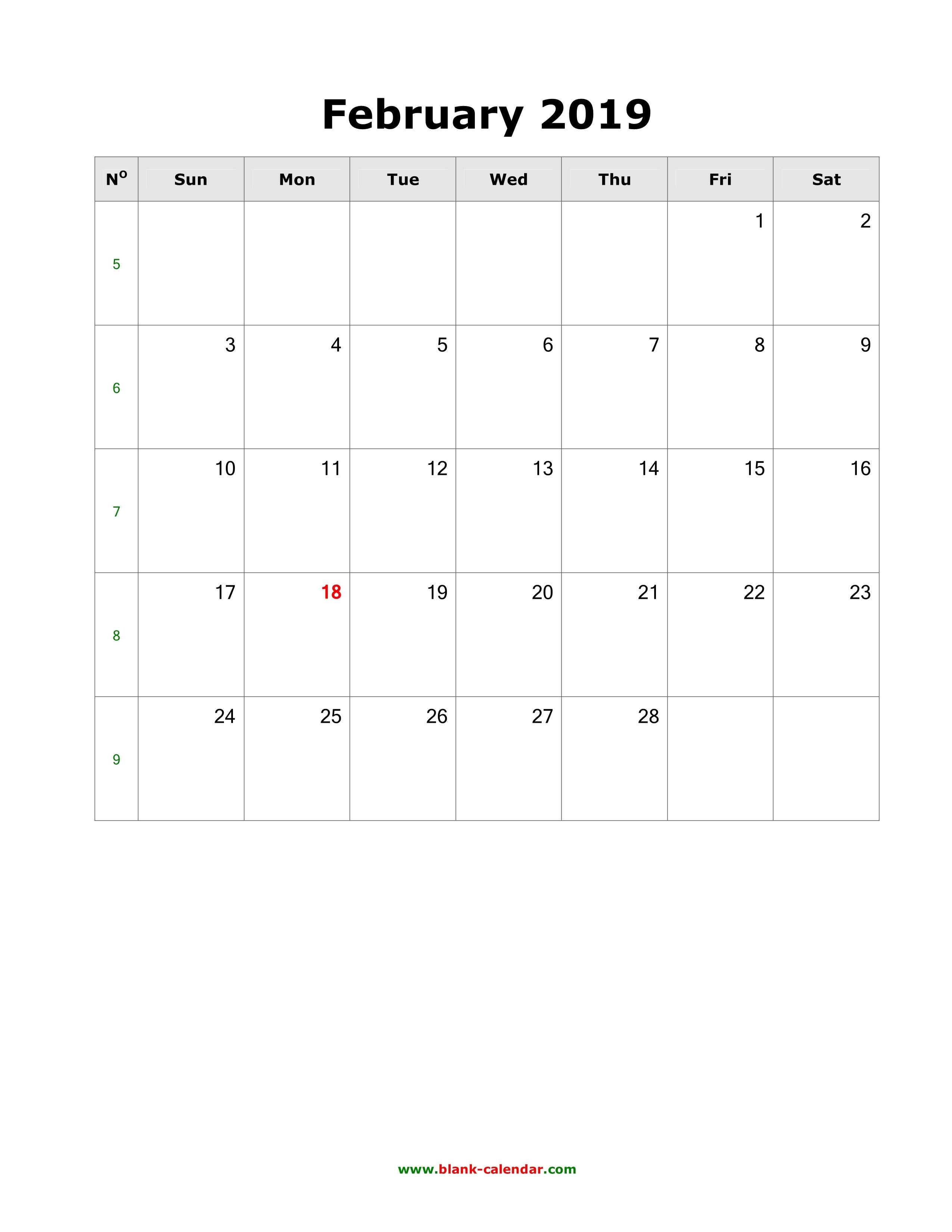 February Calendar 2019 To Do List Free February 2019 Calendar