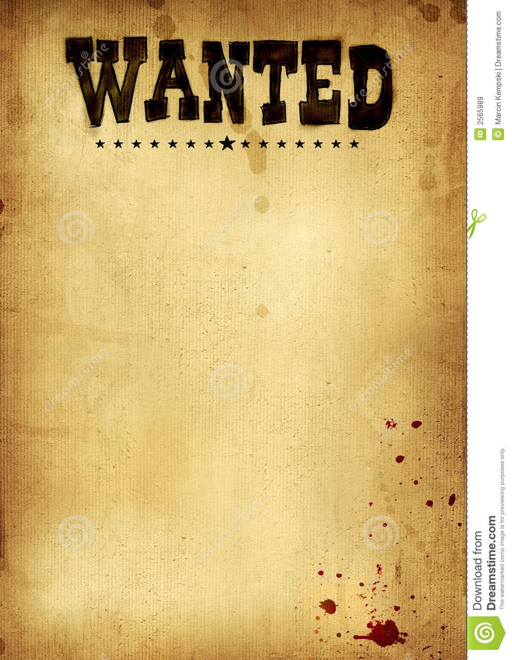 Free Clip Art Wanted Poster Template Old West Wanted Templates
