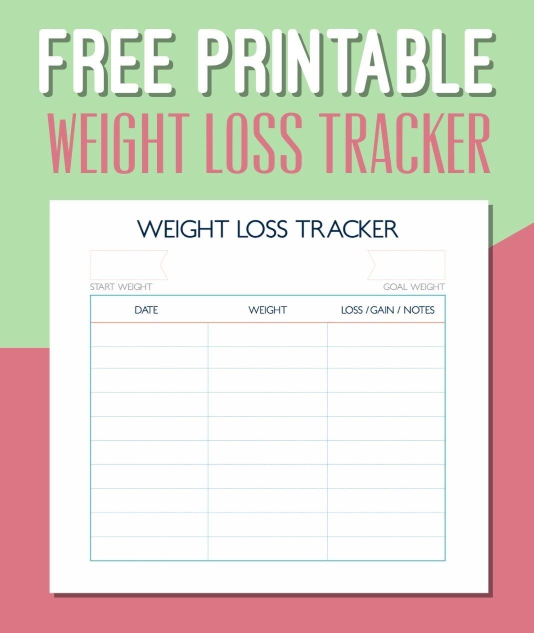 Free Printable Weight Loss Tracker Calendar 2018 Calendar 2018