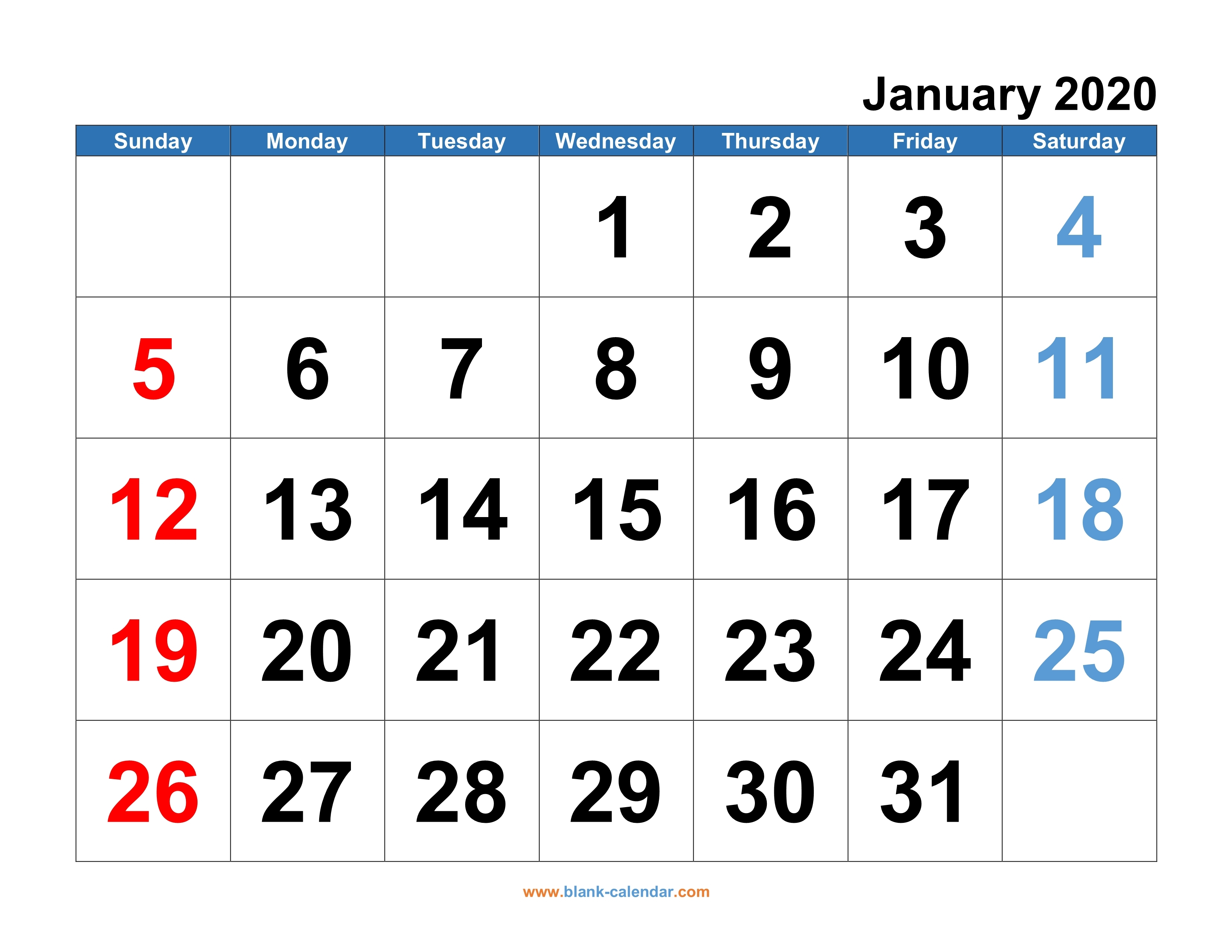 Monthly Calendar 2020 Free Download Editable And Printable