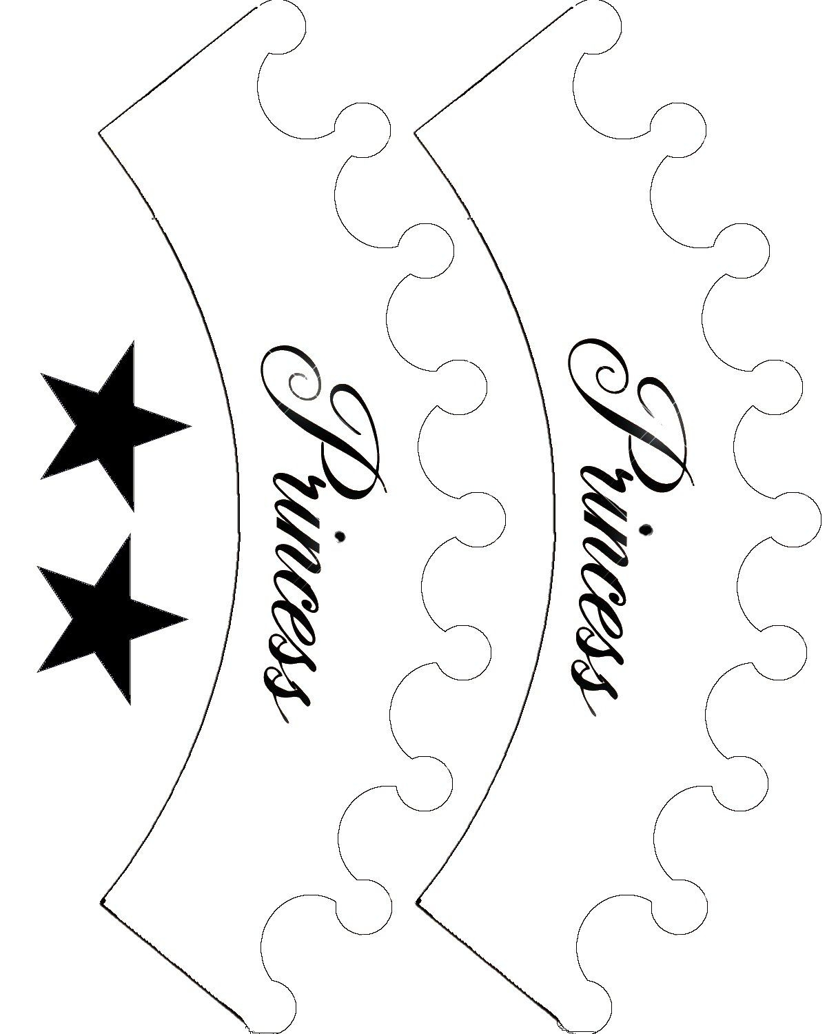 Printable Princess Crown Template Clipart Best Crown And Party