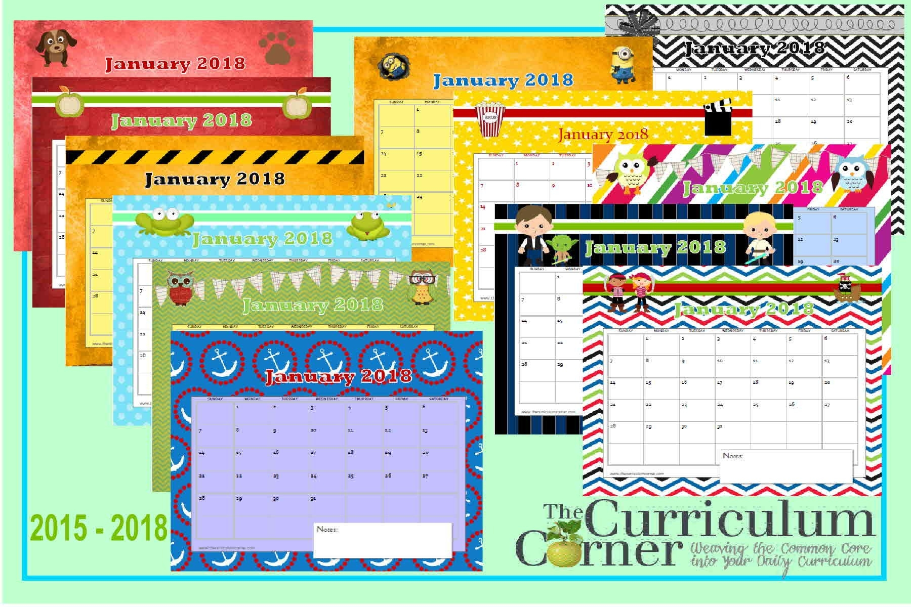 Teachers Corner Printable Calendar Printable Calendar Pages The