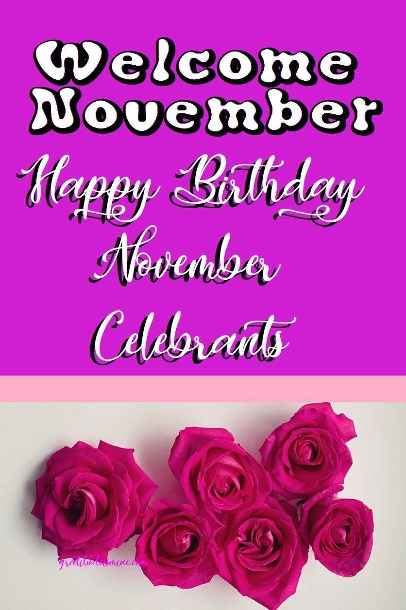 Welcome November Happy Birthday Download Pinterest Welcome
