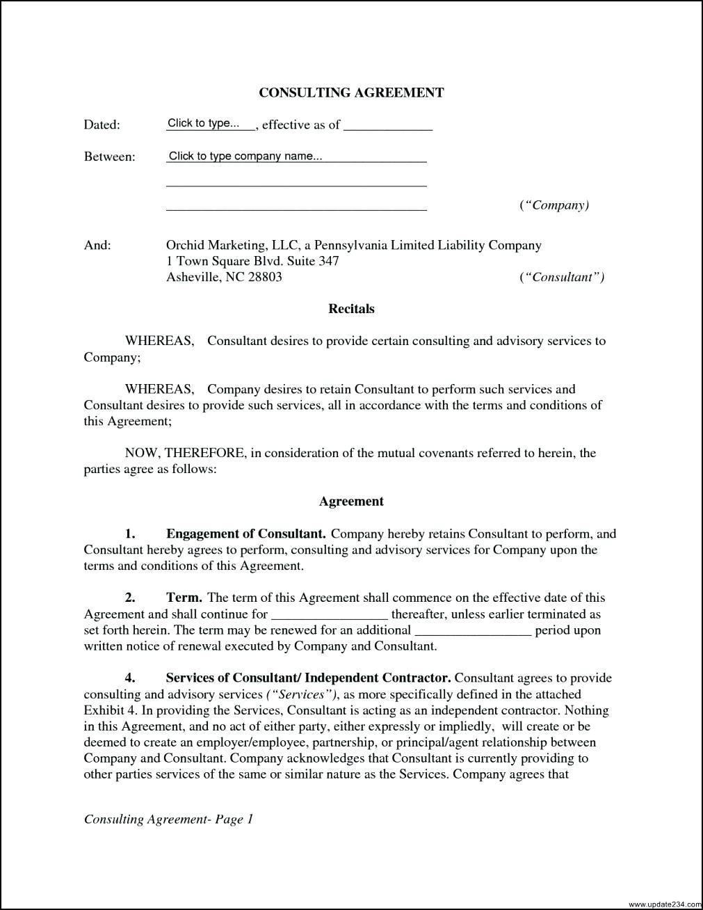 002 Consulting Contract Template Free Picture Collection Website It