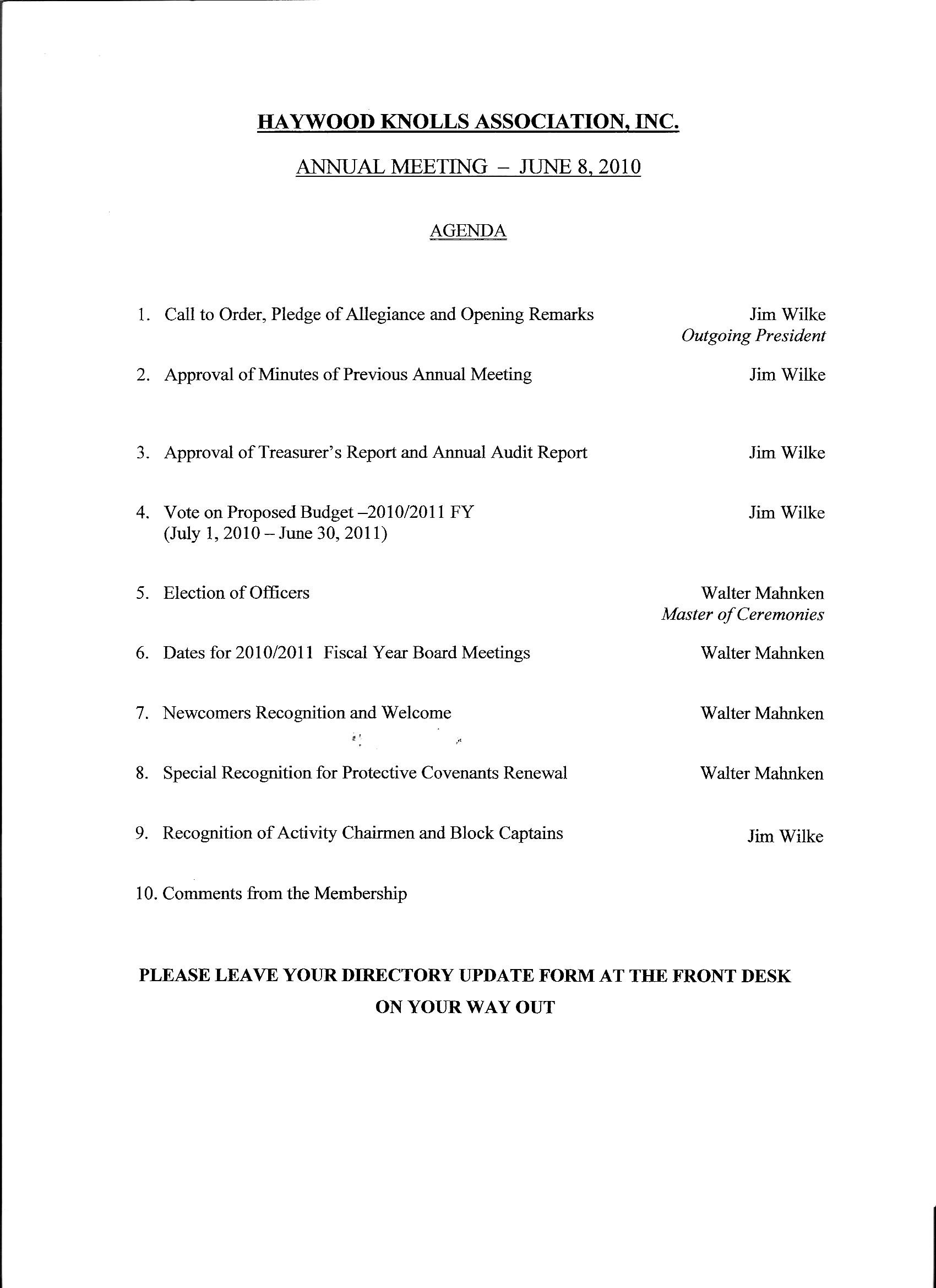 004 Meeting Agenda Template Doc Sample Church Business Editable And