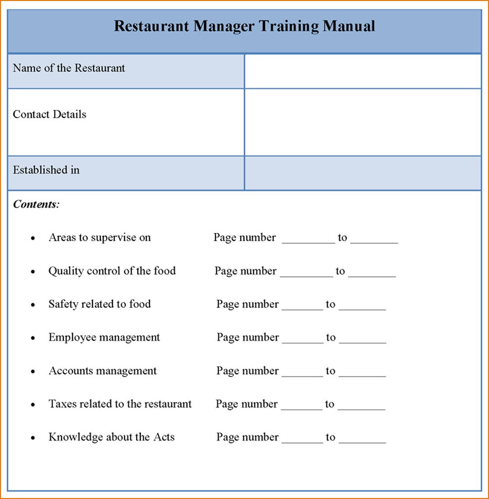 5 Training Manual Template Teknoswitch