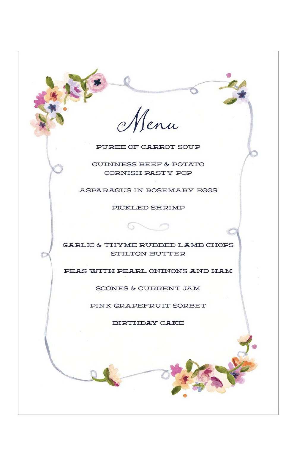 Dinner Party Menu Template Templates 13490 Resume Examples