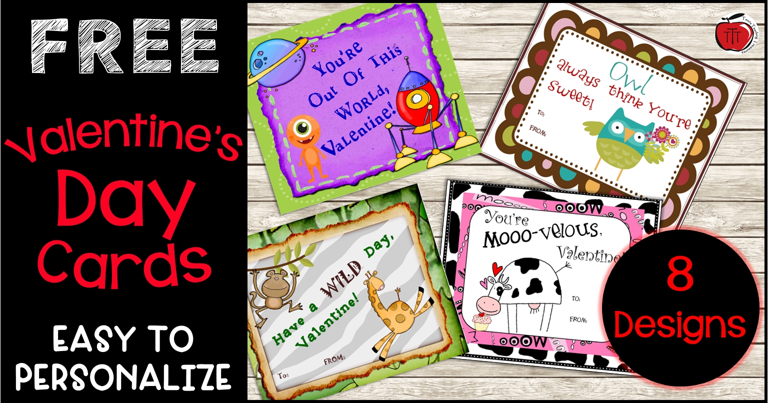 Free Valentines Day Cards Classroom Freebies