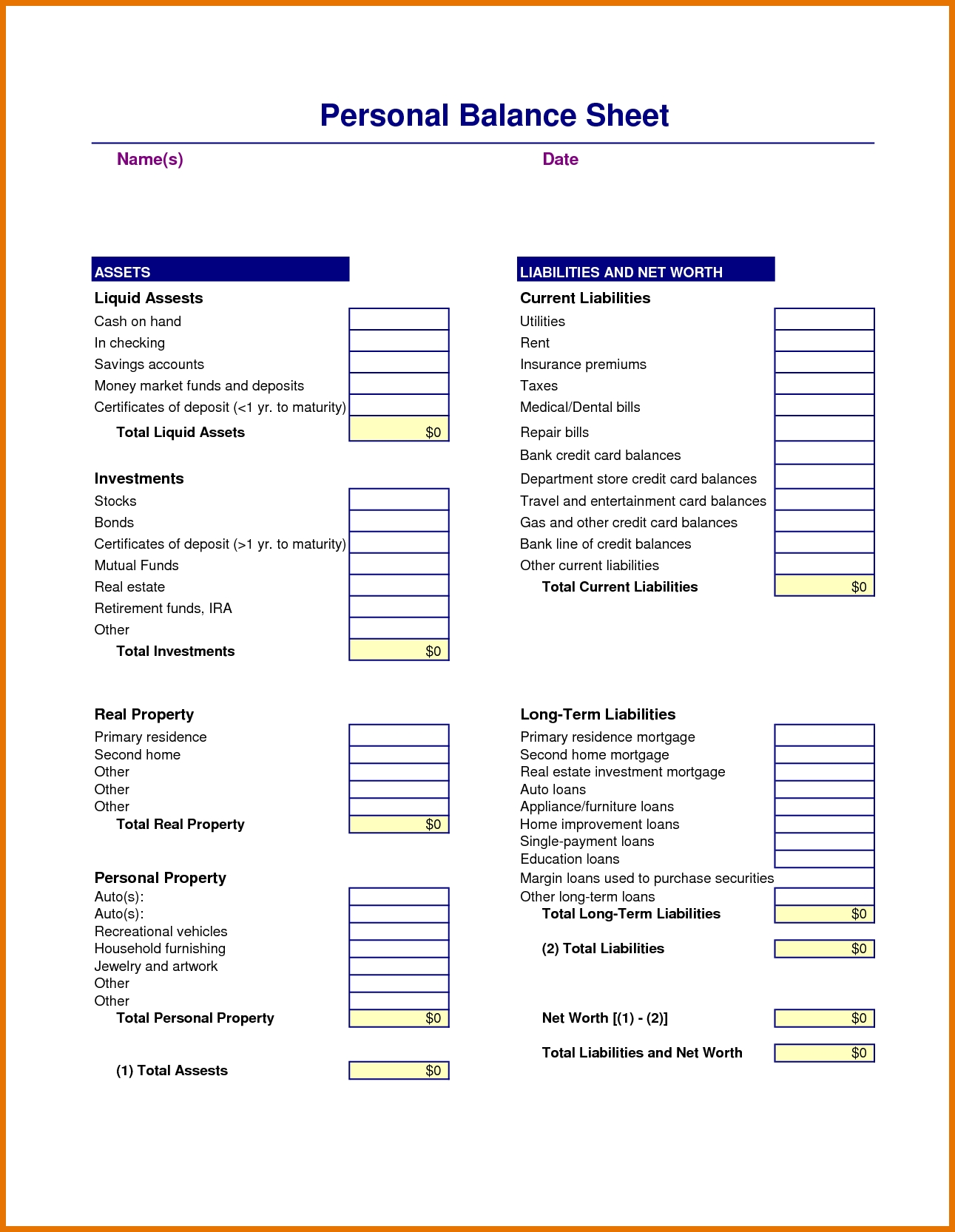 Ideas For Microsoft Balance Sheet Template Also Cover Wosing