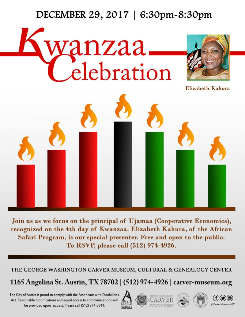 Kwanzaa Celebration Of Ujamaa With Elizabeth Kahura In Austin At