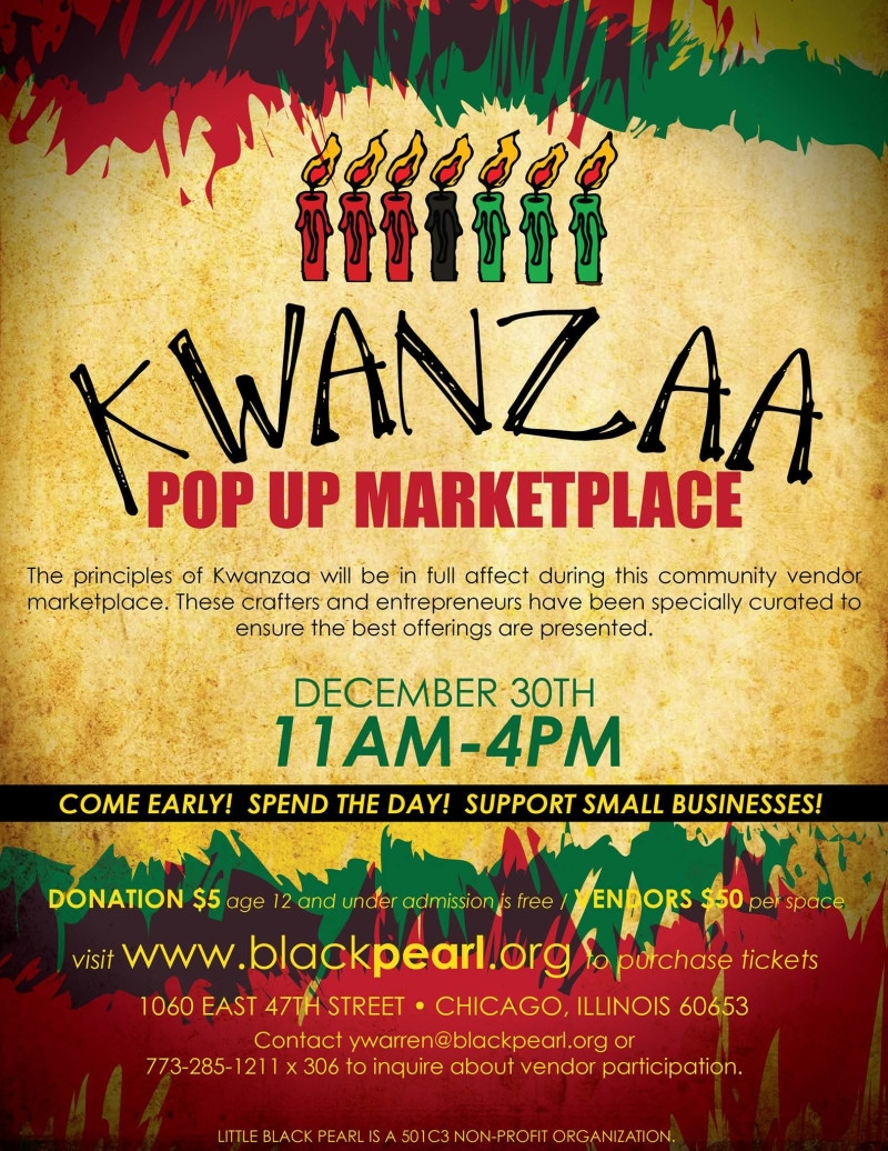 Kwanzaa Pop Up Marketplace In Chicago At Little Black Pearl