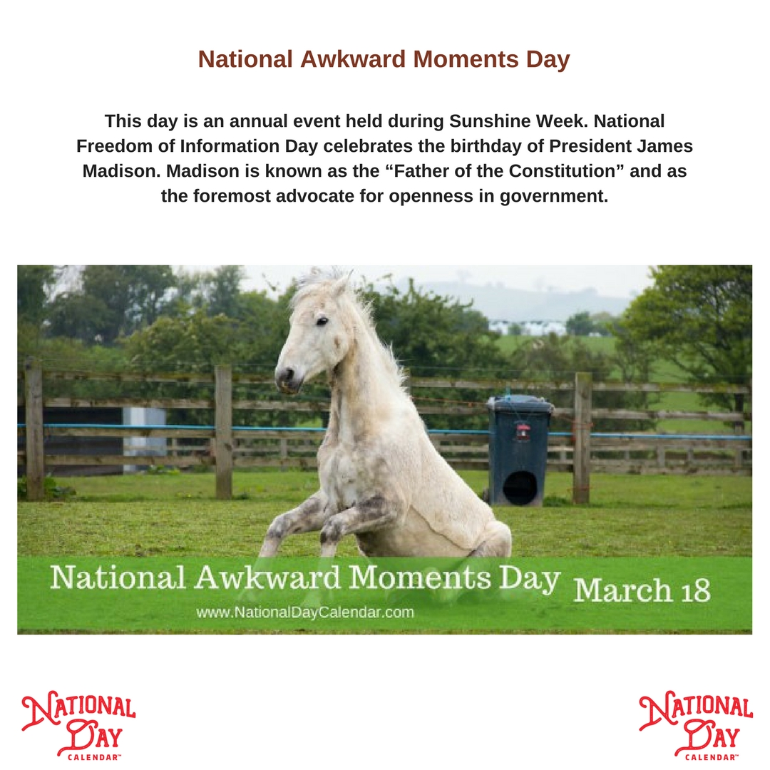March 18 2018 National Awkward Moments Day National Supreme