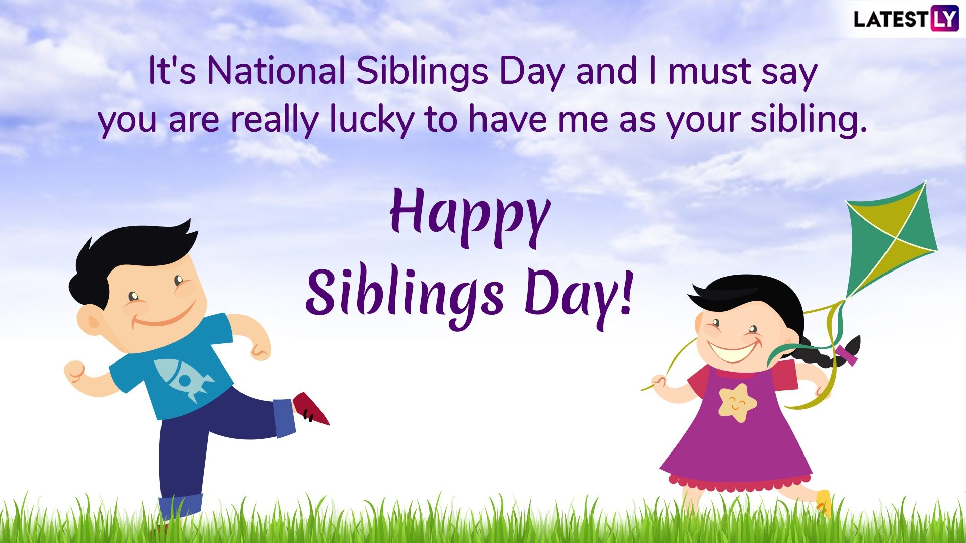 National Siblings Day 2019 Funny Quotes Gif Images And Sms