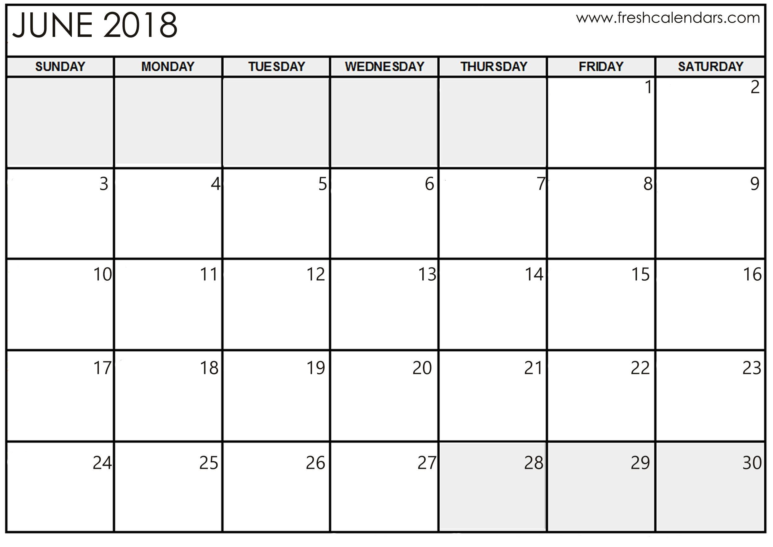Pin Ifreeprintable Calendar On June 2018 Calendar Pinterest