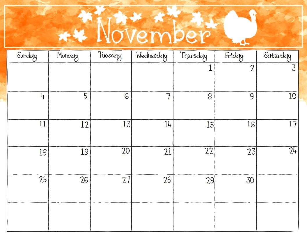 Printable November 2018 Calendar Free Download November Calendar