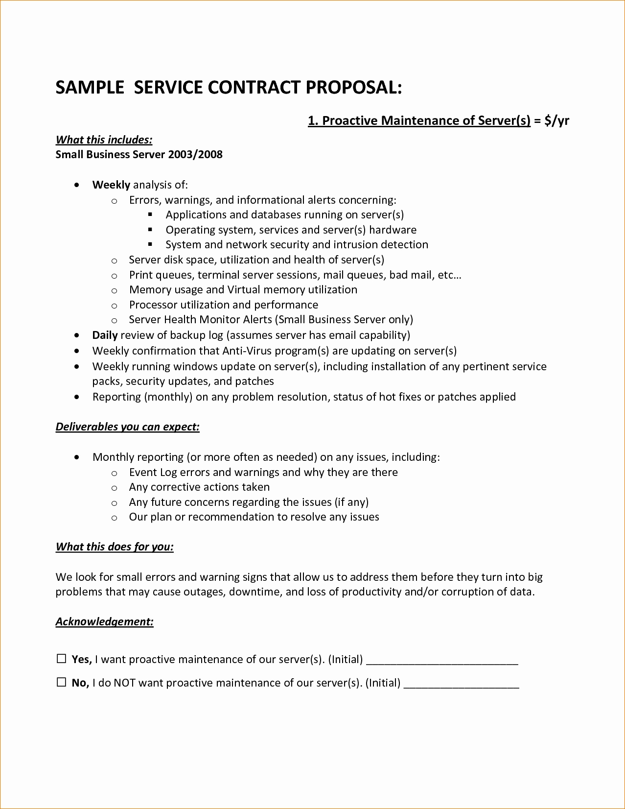 Proposal For Contract Work Template Or 7 Contract Proposal Template