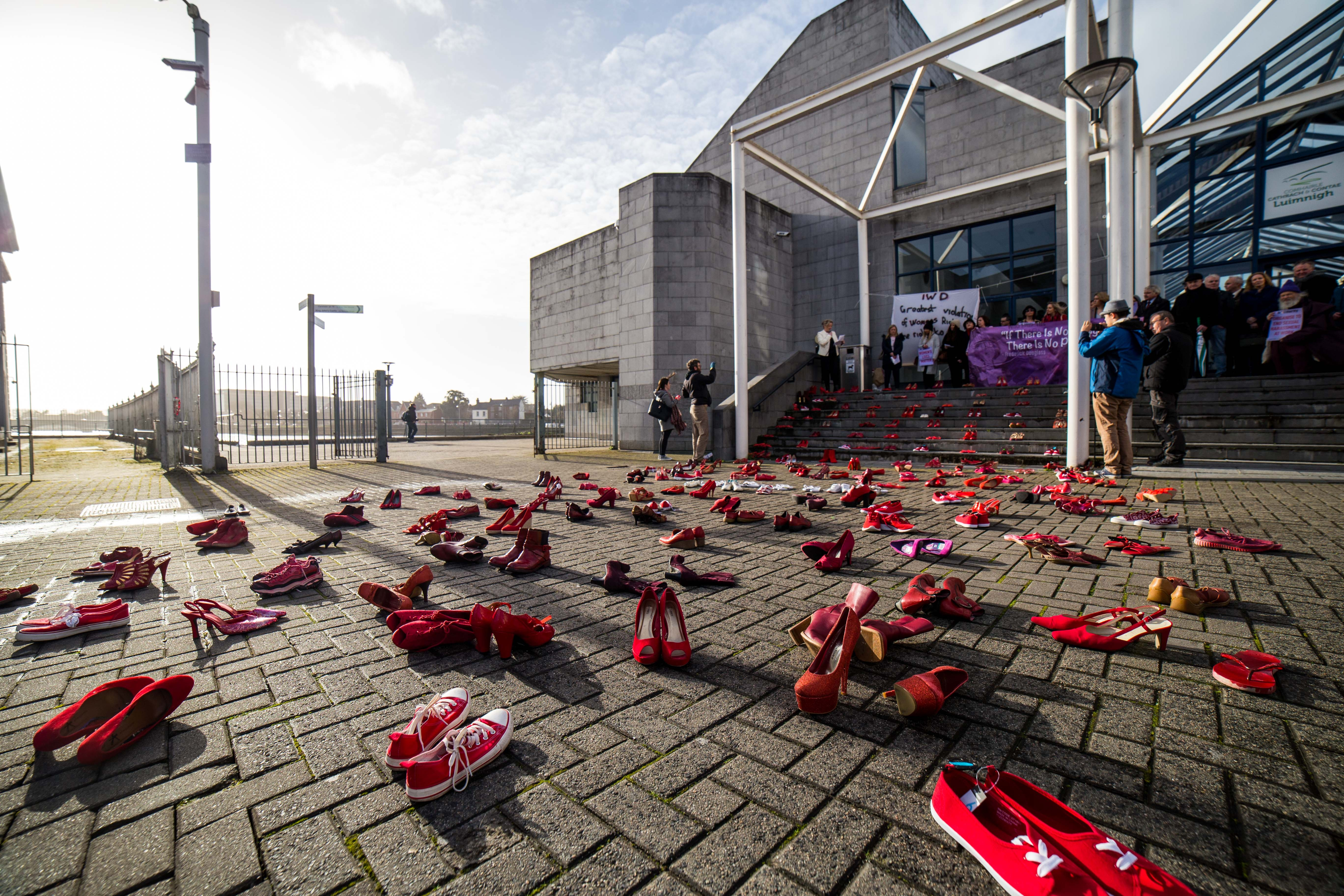 Red Shoe Demonstration On International Womens Day Highlights