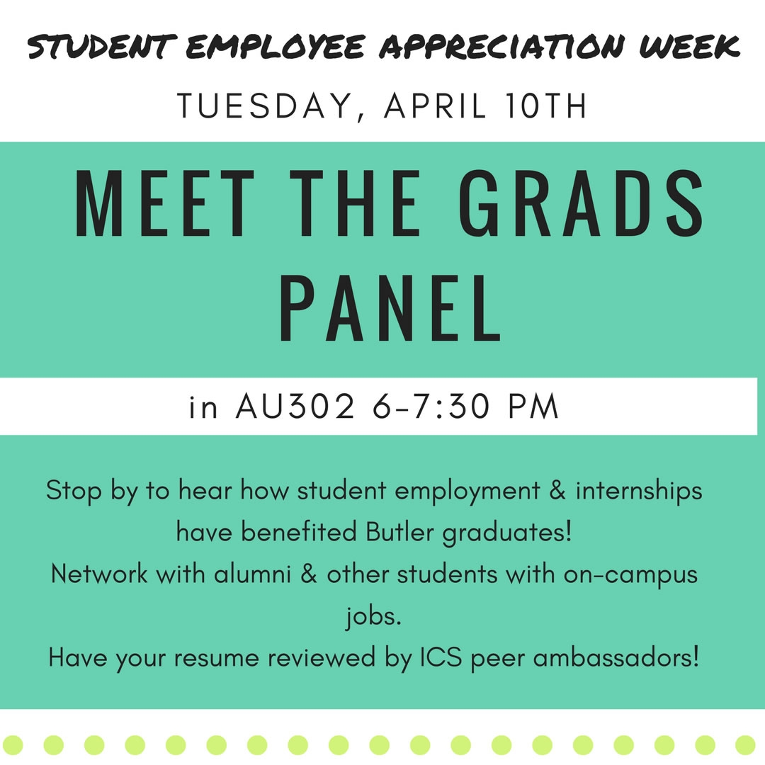Student Employee Appreciation Week 2018 Butleredu