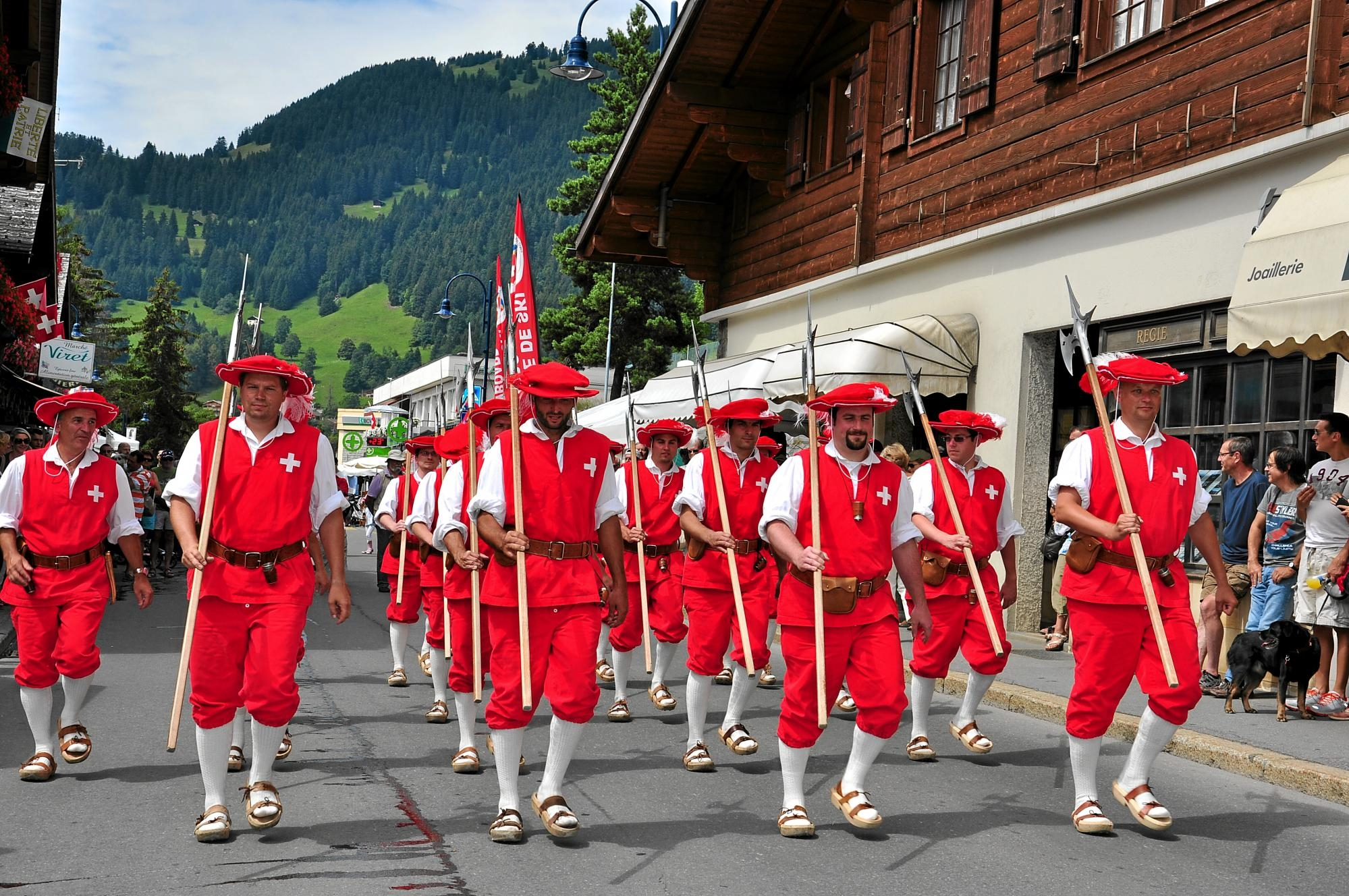 Swiss National Day And Mid Summer Festivities In Villars