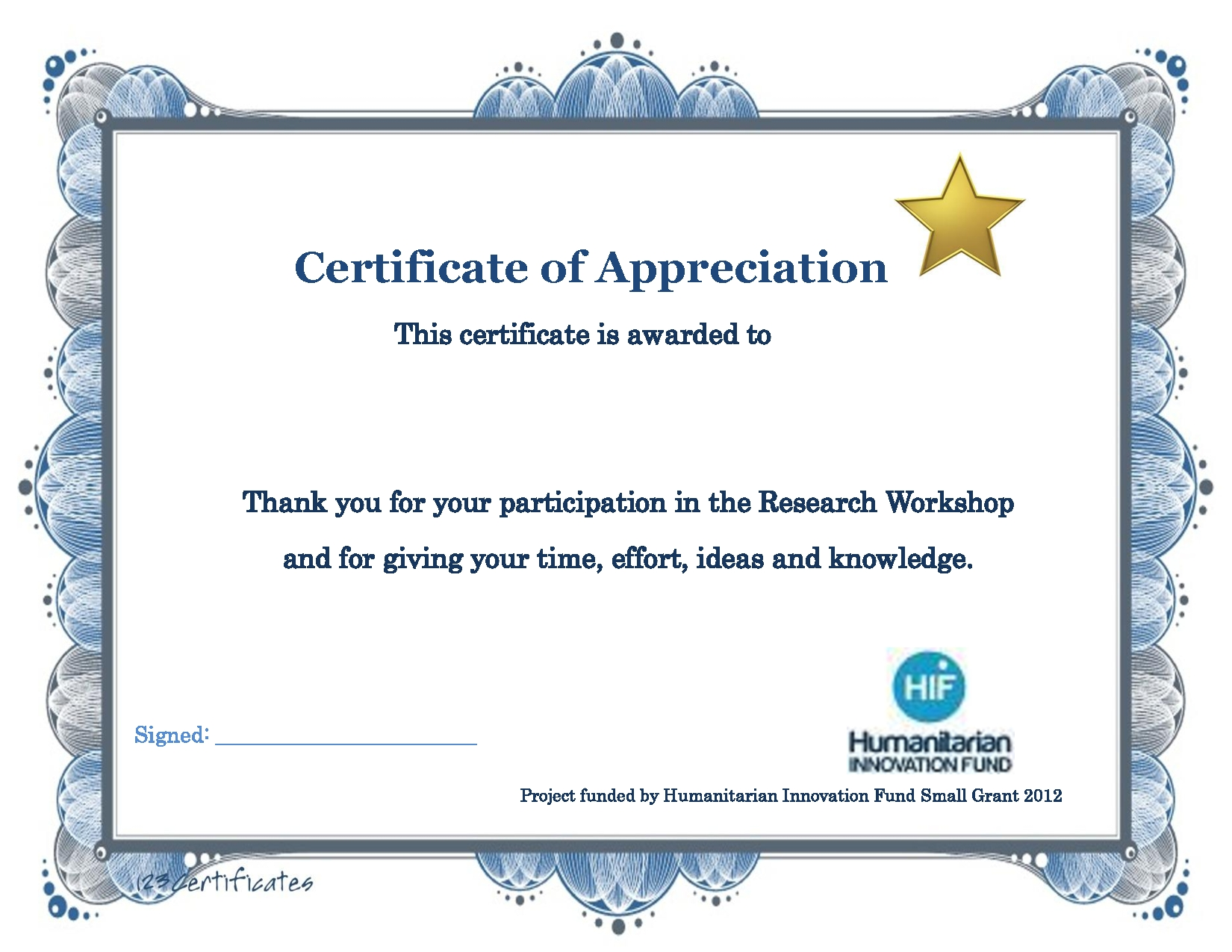 Thank You Certificate Template Diy Projects To Try