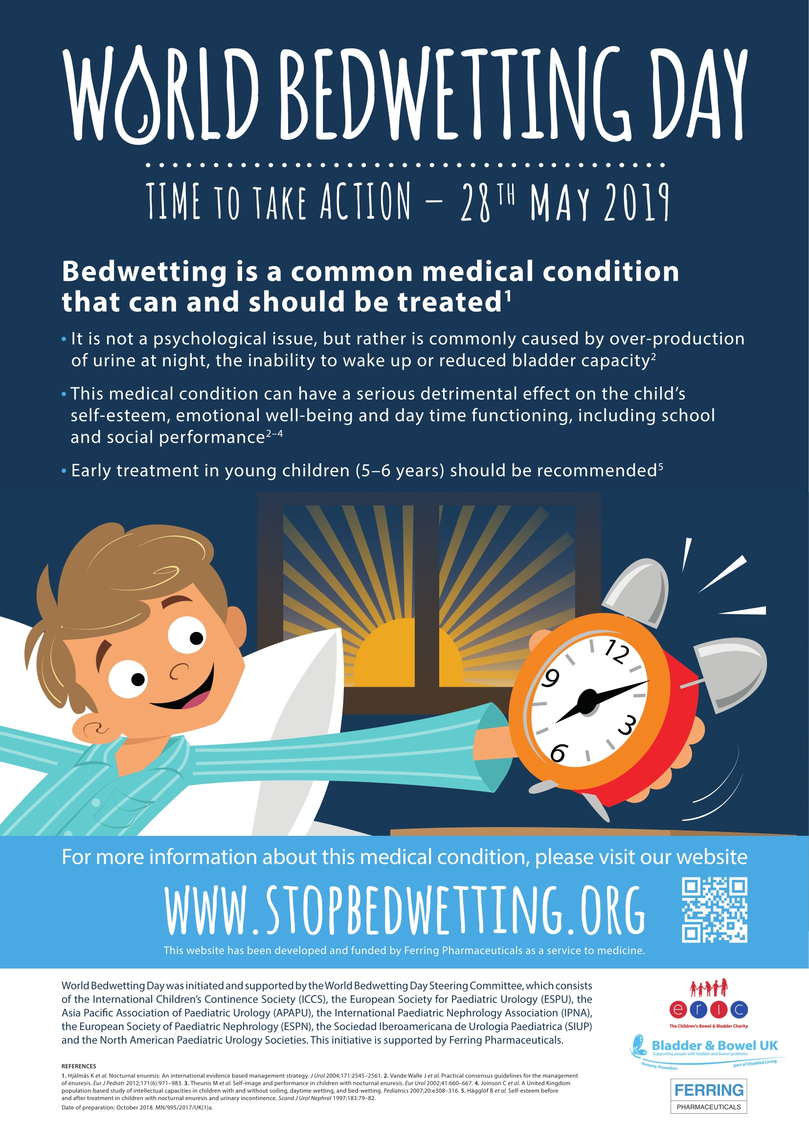 World Bedwetting Day Tuesday 28th May 2019 Bladder Bowel Uk