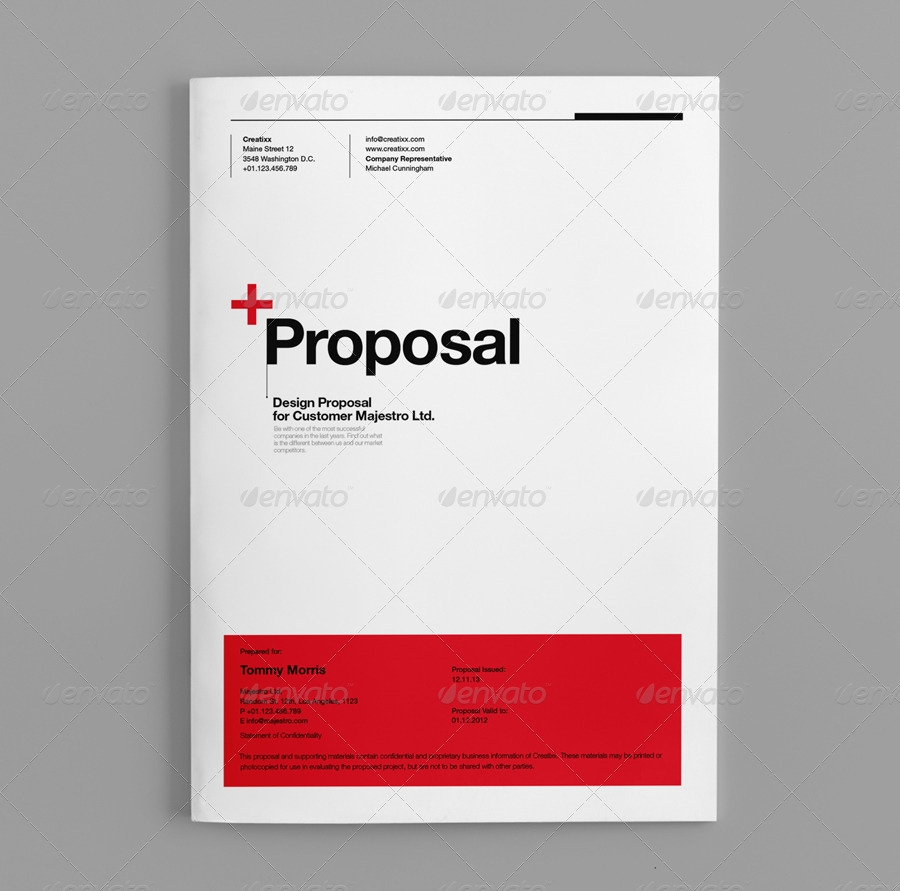 012 Microsoft Word Proposal Template Cover