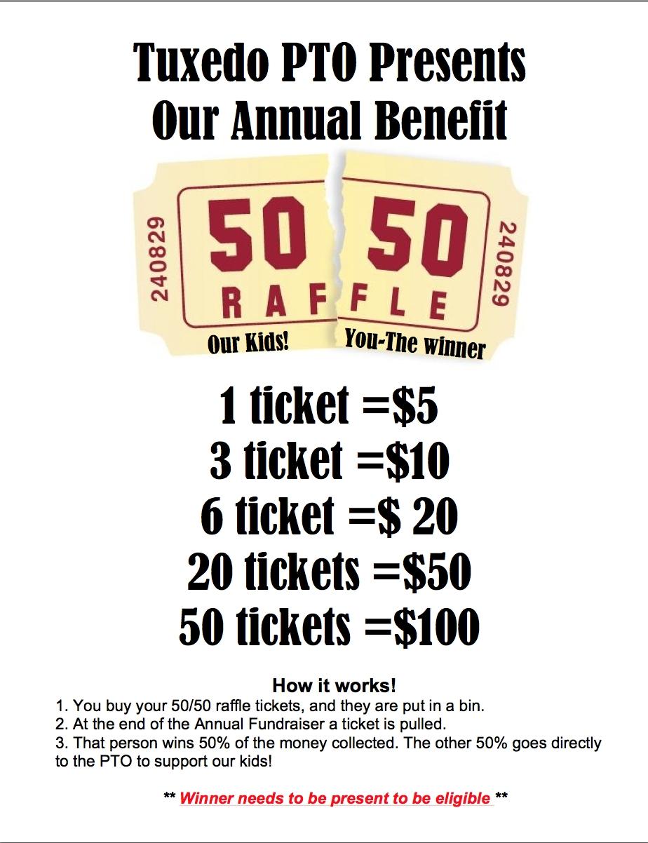 50 50 Raffle Fundraiser Flyer Hla 50 50 Raffle Fundraising